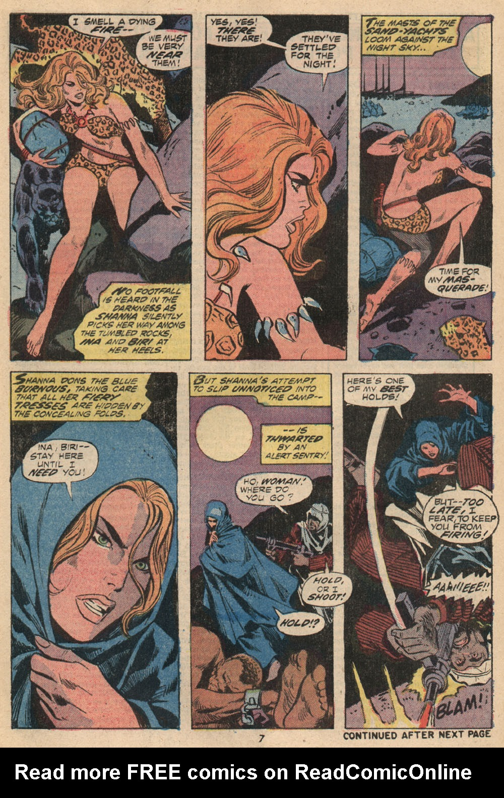 Read online Shanna, the She-Devil (1972) comic -  Issue #2 - 7