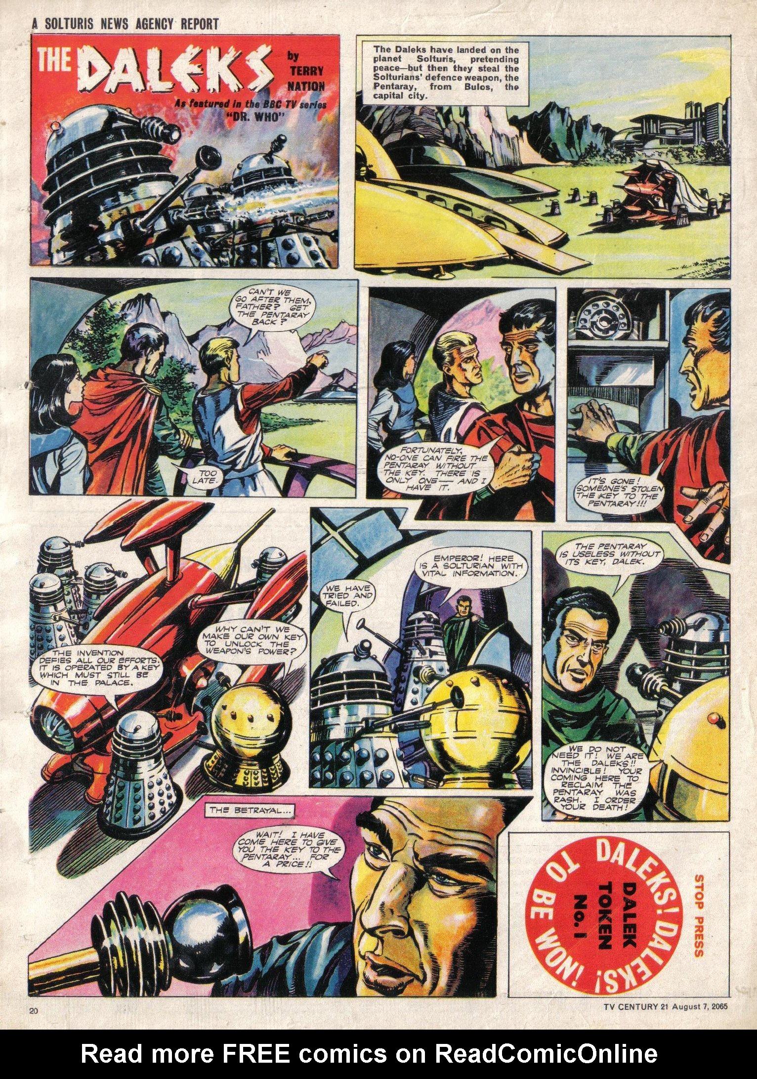 Read online TV Century 21 (TV 21) comic -  Issue #29 - 20