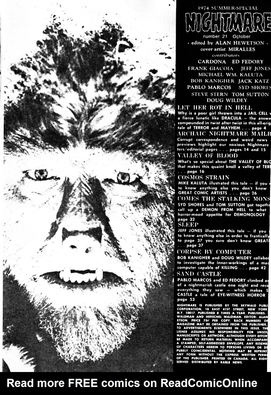 Nightmare (1970) issue 21 - Page 3