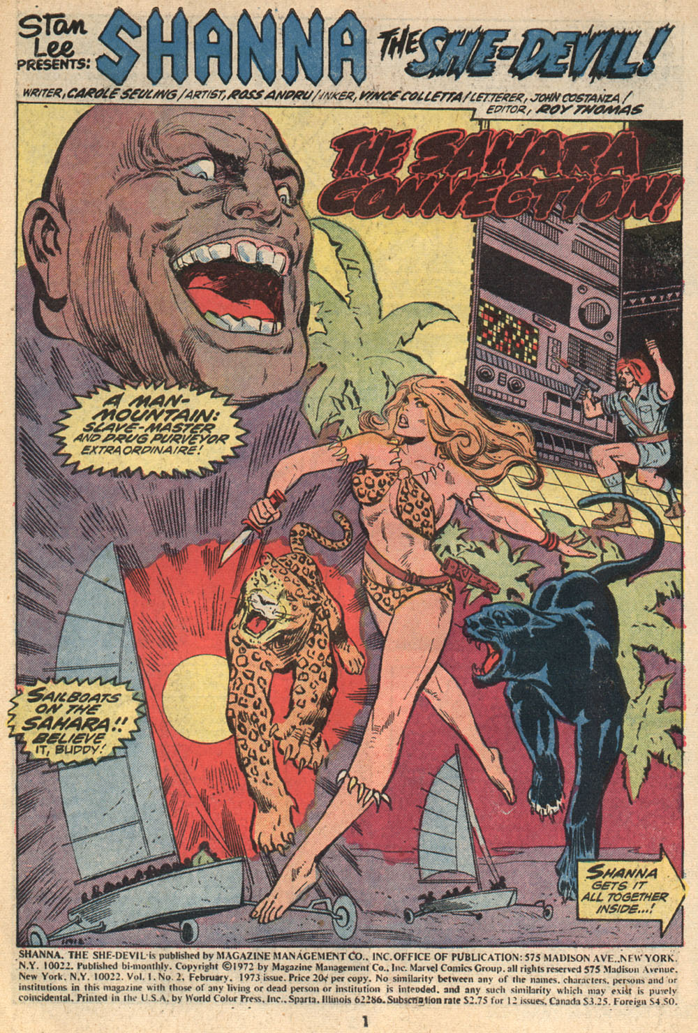 Read online Shanna, the She-Devil (1972) comic -  Issue #2 - 2