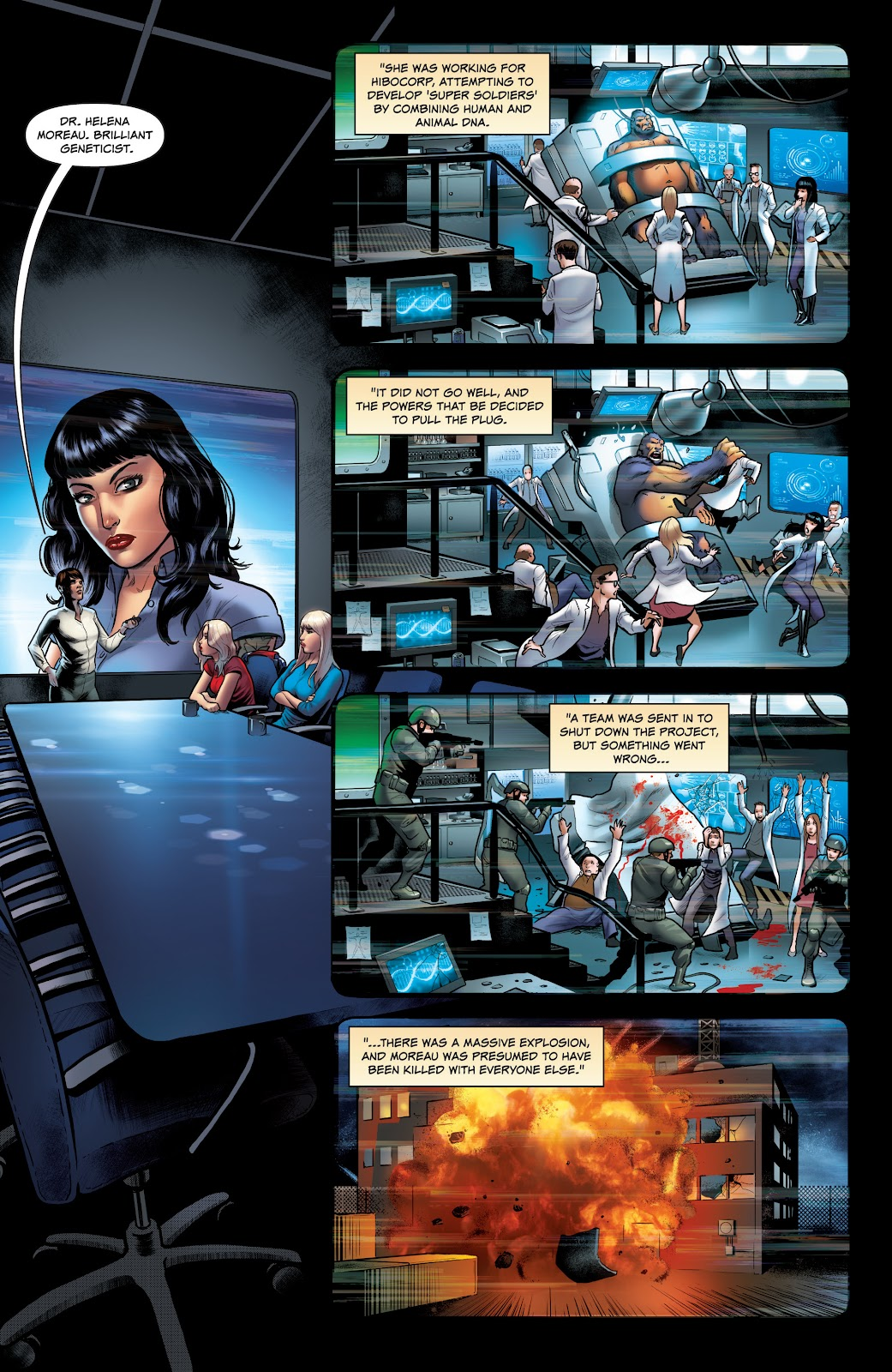 Read online Red Agent: Island of Dr Moreau comic -  Issue #1 - 14
