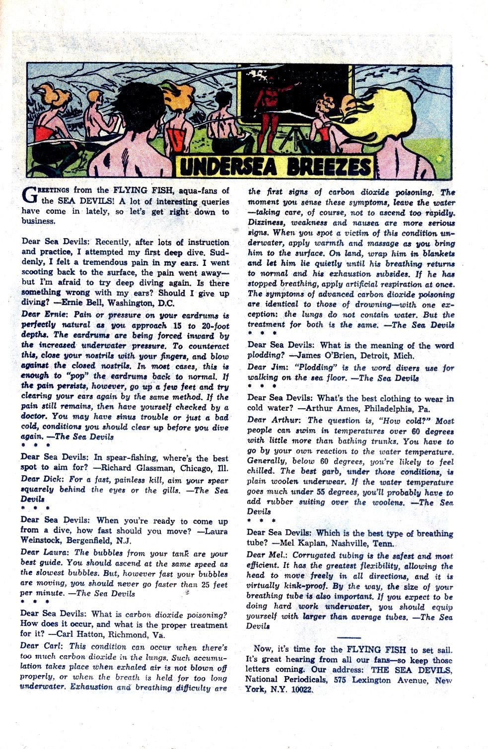 Read online Sea Devils comic -  Issue #27 - 34