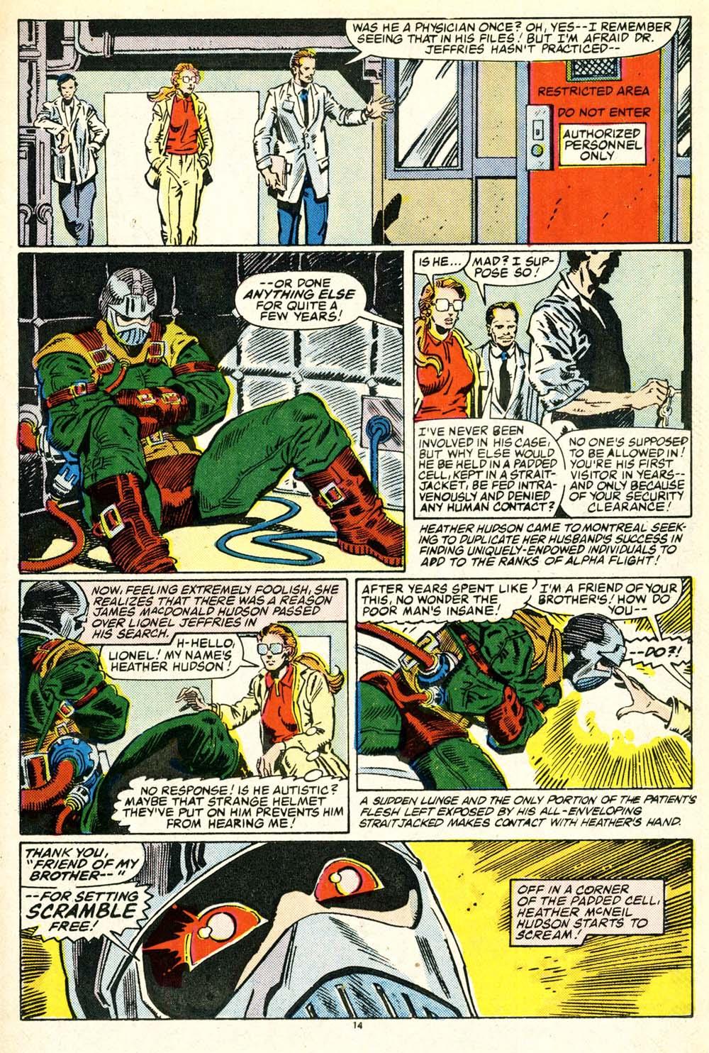 Read online Alpha Flight (1983) comic -  Issue #30 - 15