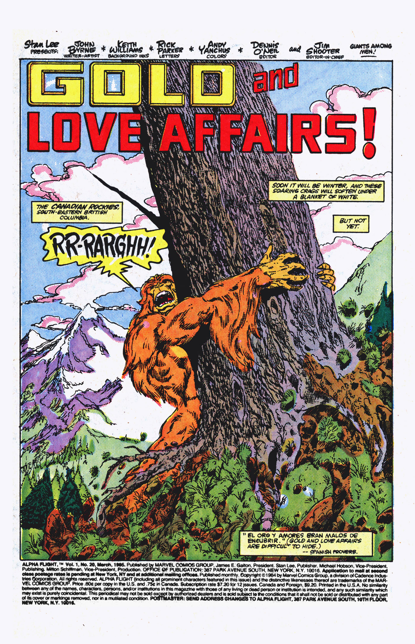 Read online Alpha Flight (1983) comic -  Issue #20 - 2