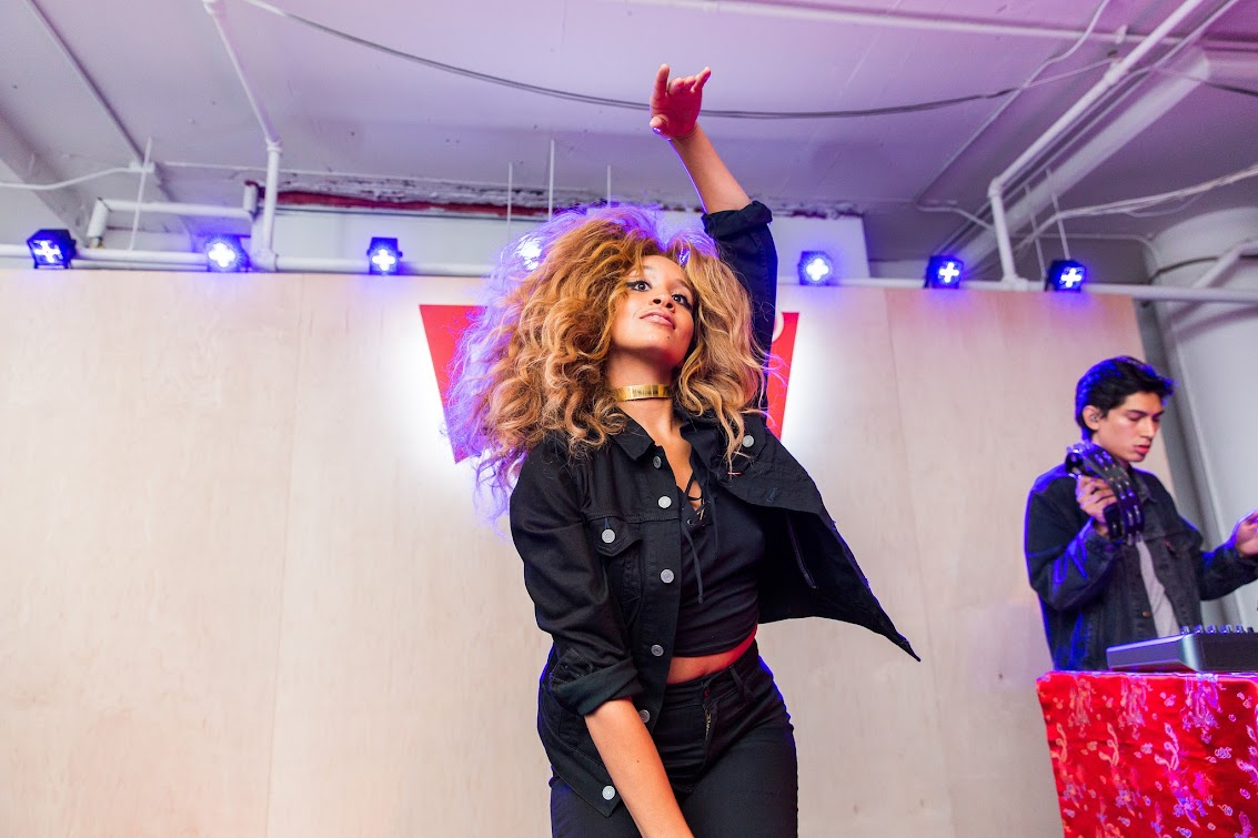 Lion Babe at LEVI'S Women's Denim Collection Launch Event