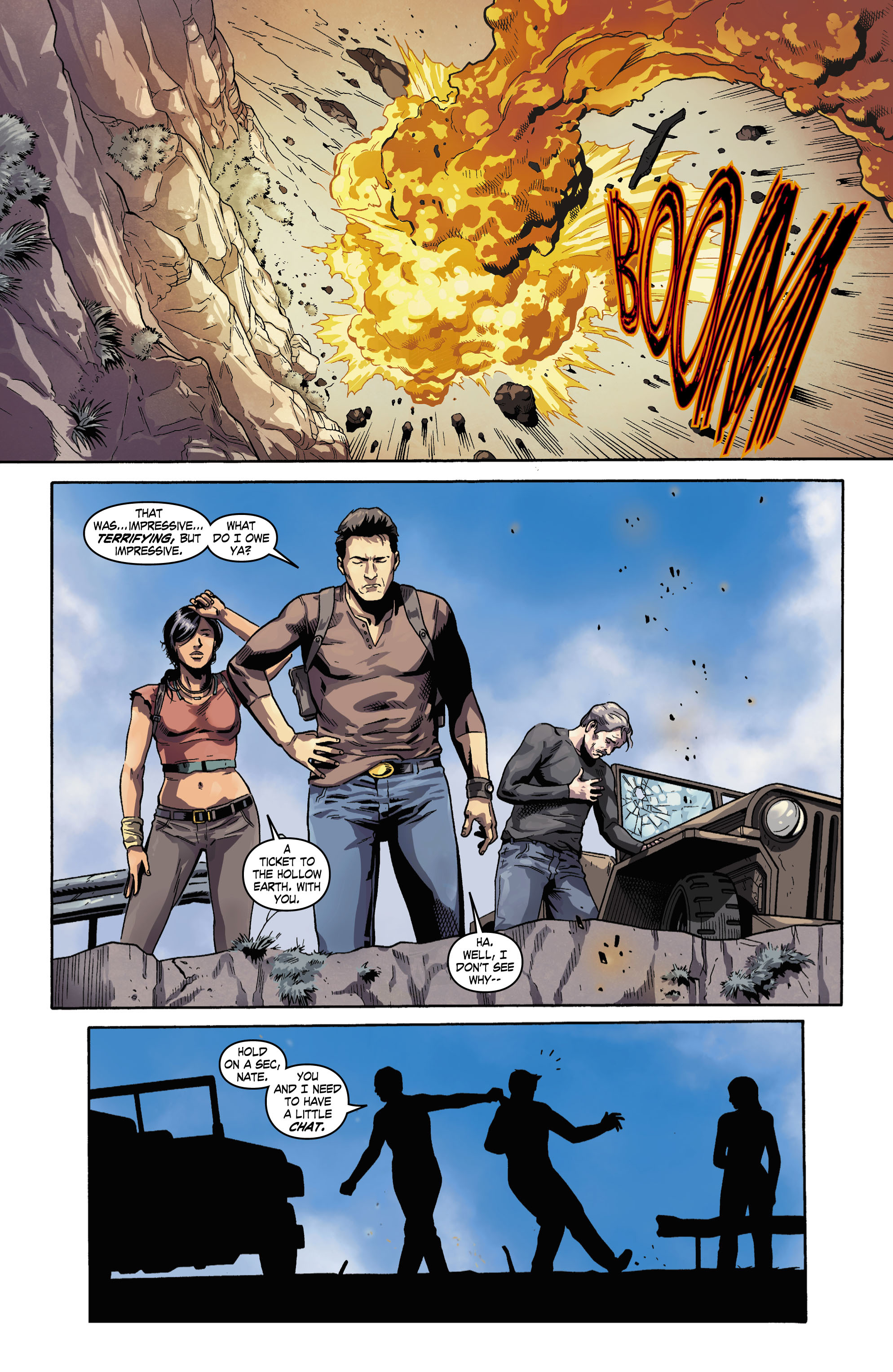 Read online Uncharted comic -  Issue #3 - 10