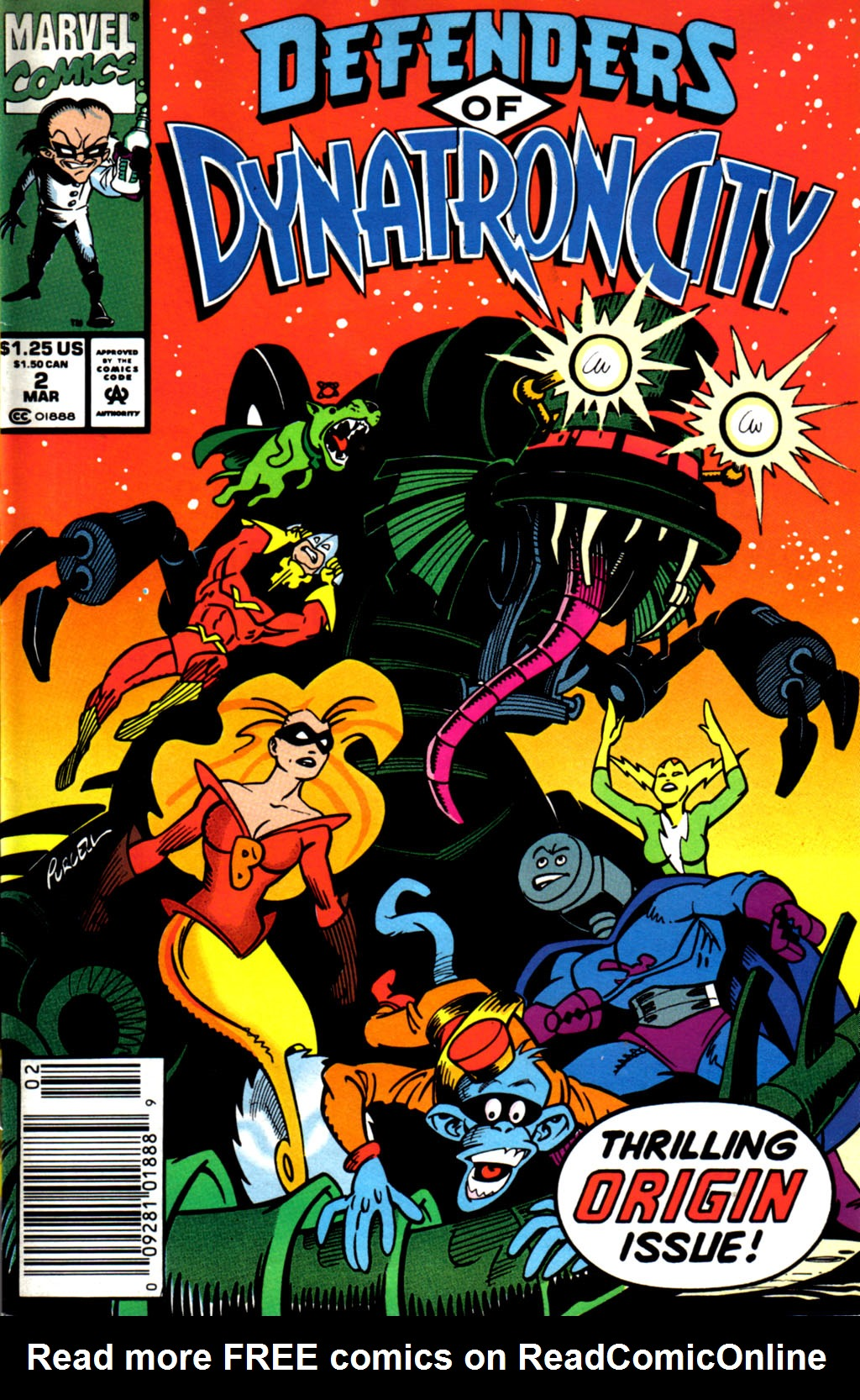 Read online Defenders of Dynatron City comic -  Issue #2 - 1