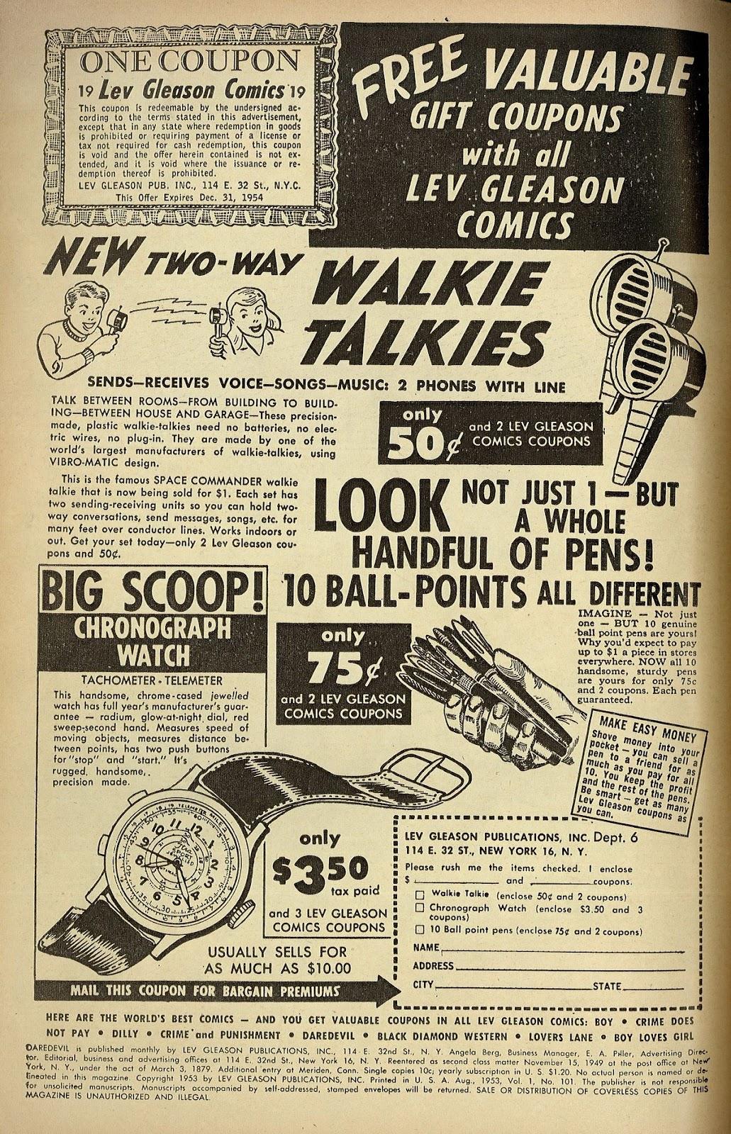 Daredevil (1941) issue 101 - Page 2