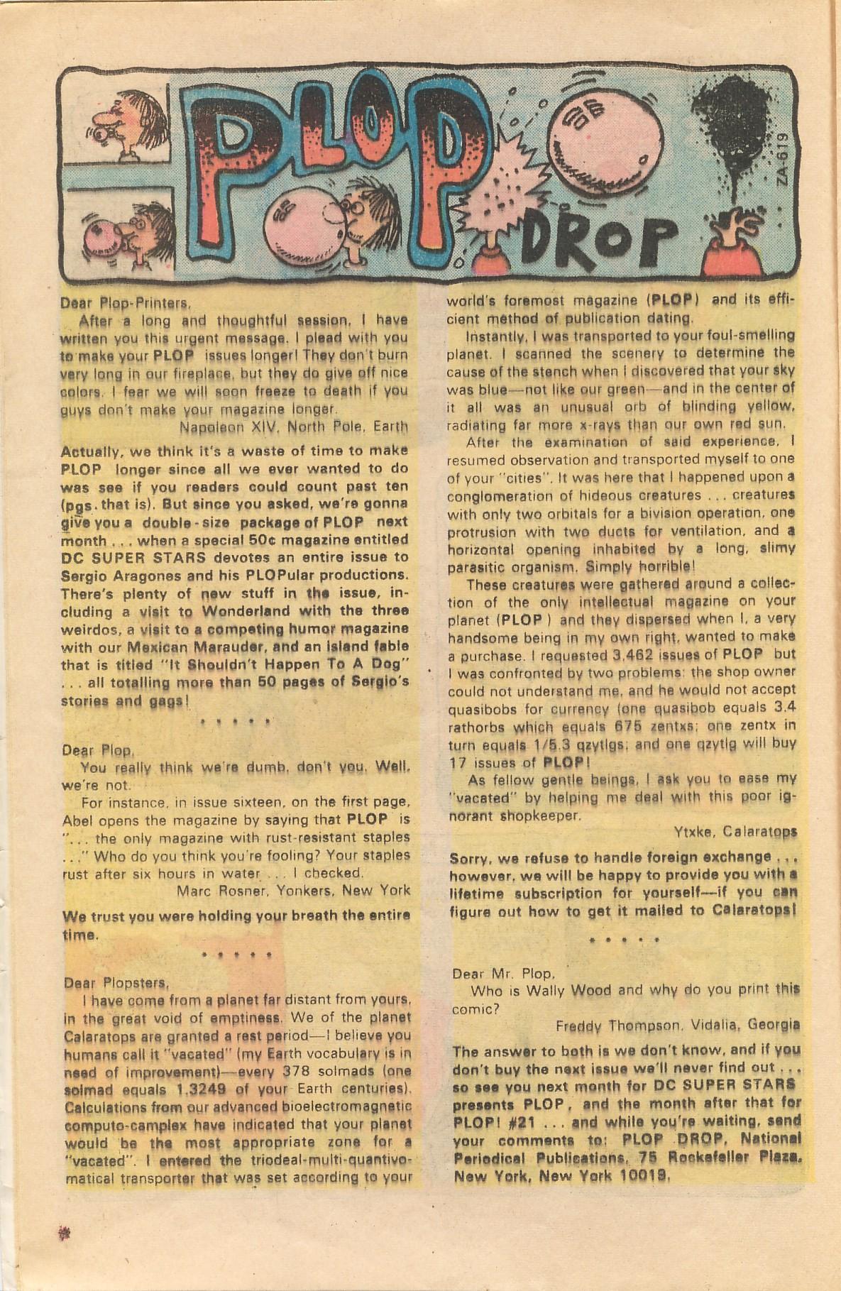 Read online Plop! comic -  Issue #20 - 12
