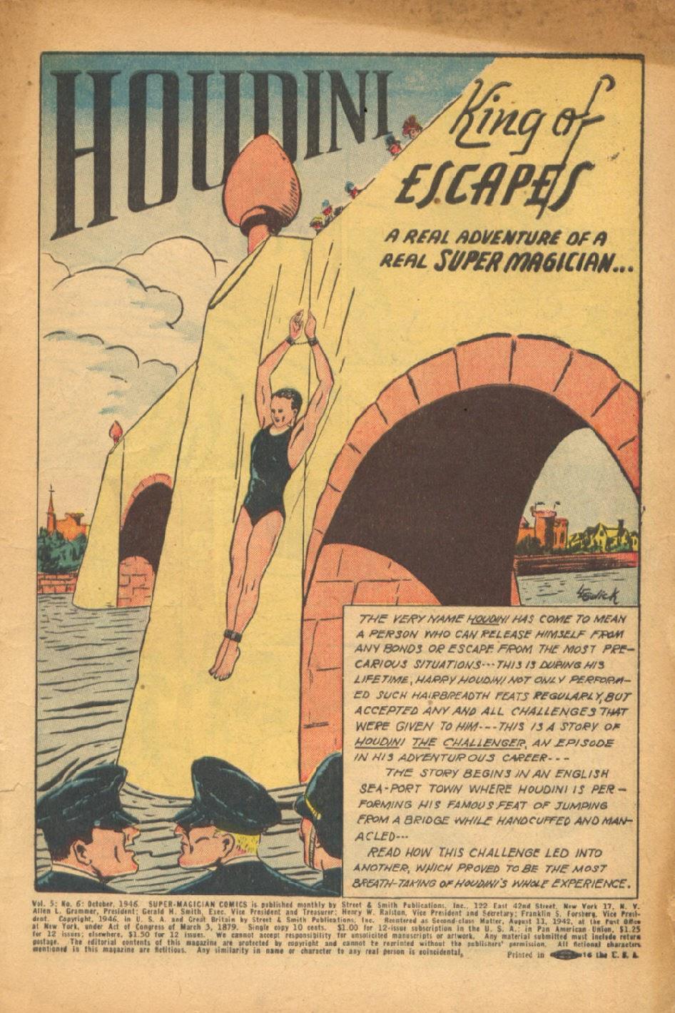 Read online Super-Magician Comics comic -  Issue #54 - 2