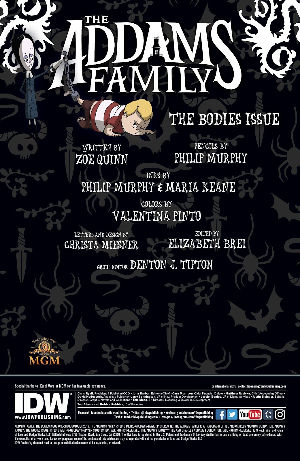 Read online Addams Family: The Bodies Issue comic -  Issue # Full - 2