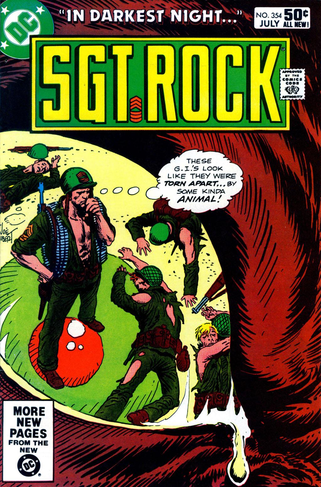 Read online Sgt. Rock comic -  Issue #354 - 1