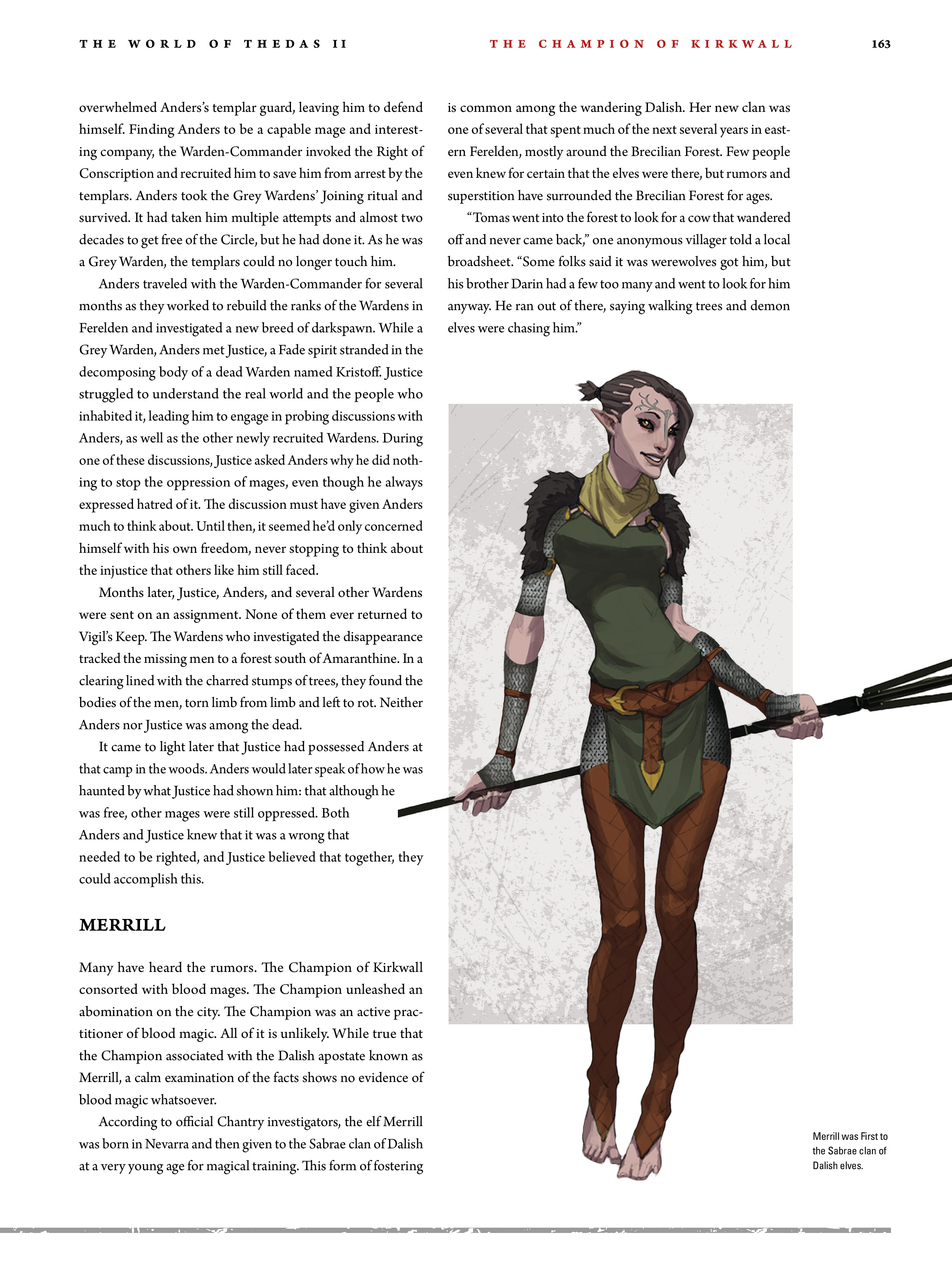 Read online Dragon Age: The World of Thedas comic -  Issue # TPB 2 - 159
