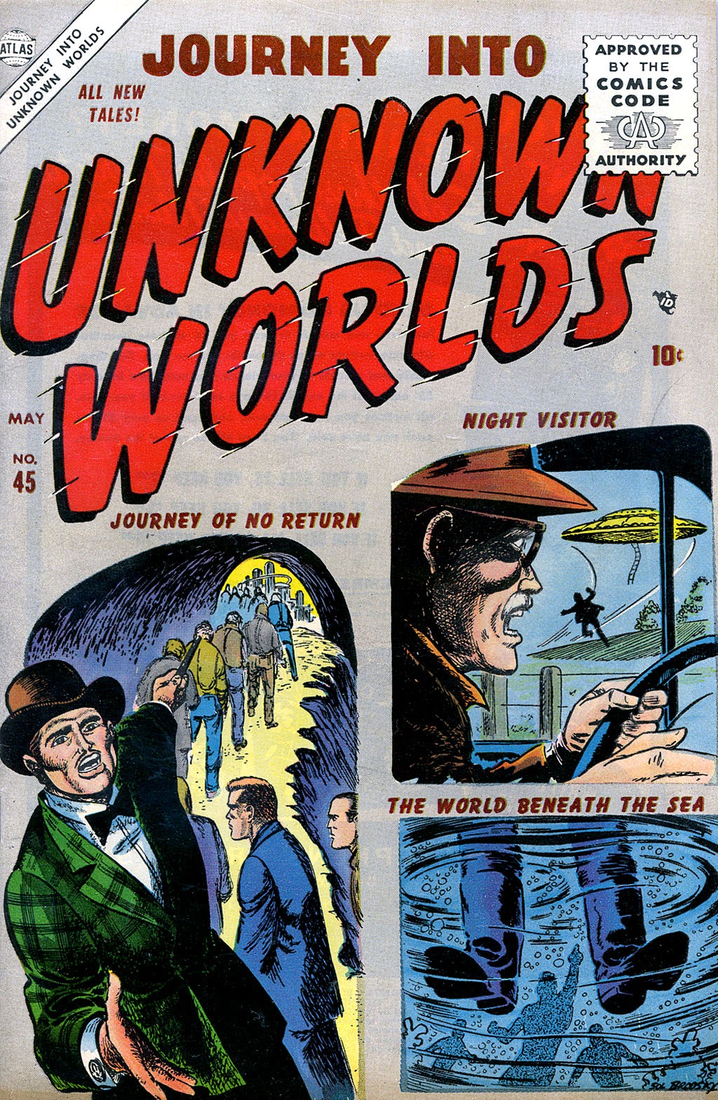 Journey Into Unknown Worlds (1950) issue 45 - Page 1