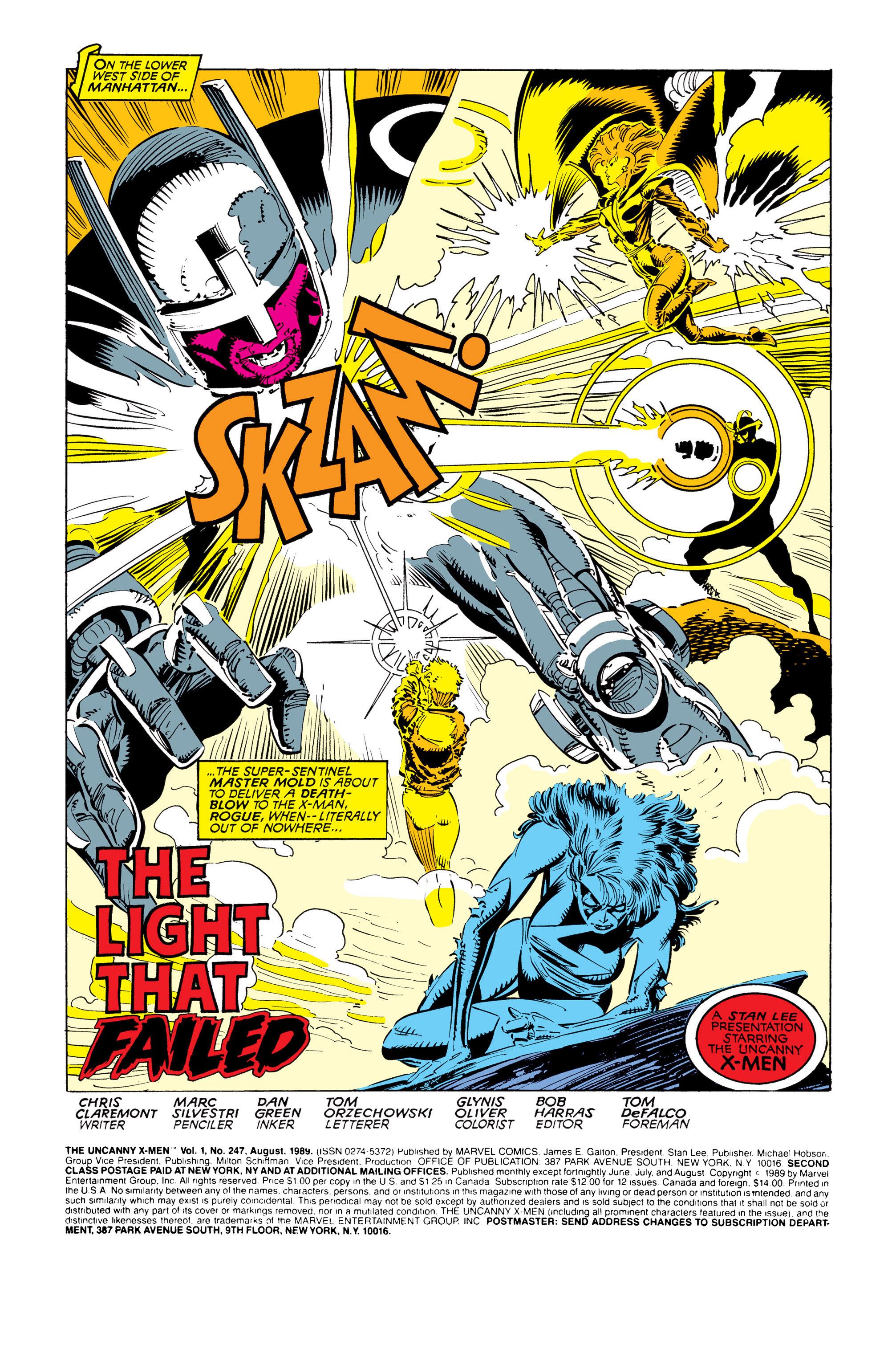 Read online Uncanny X-Men (1963) comic -  Issue #247 - 2