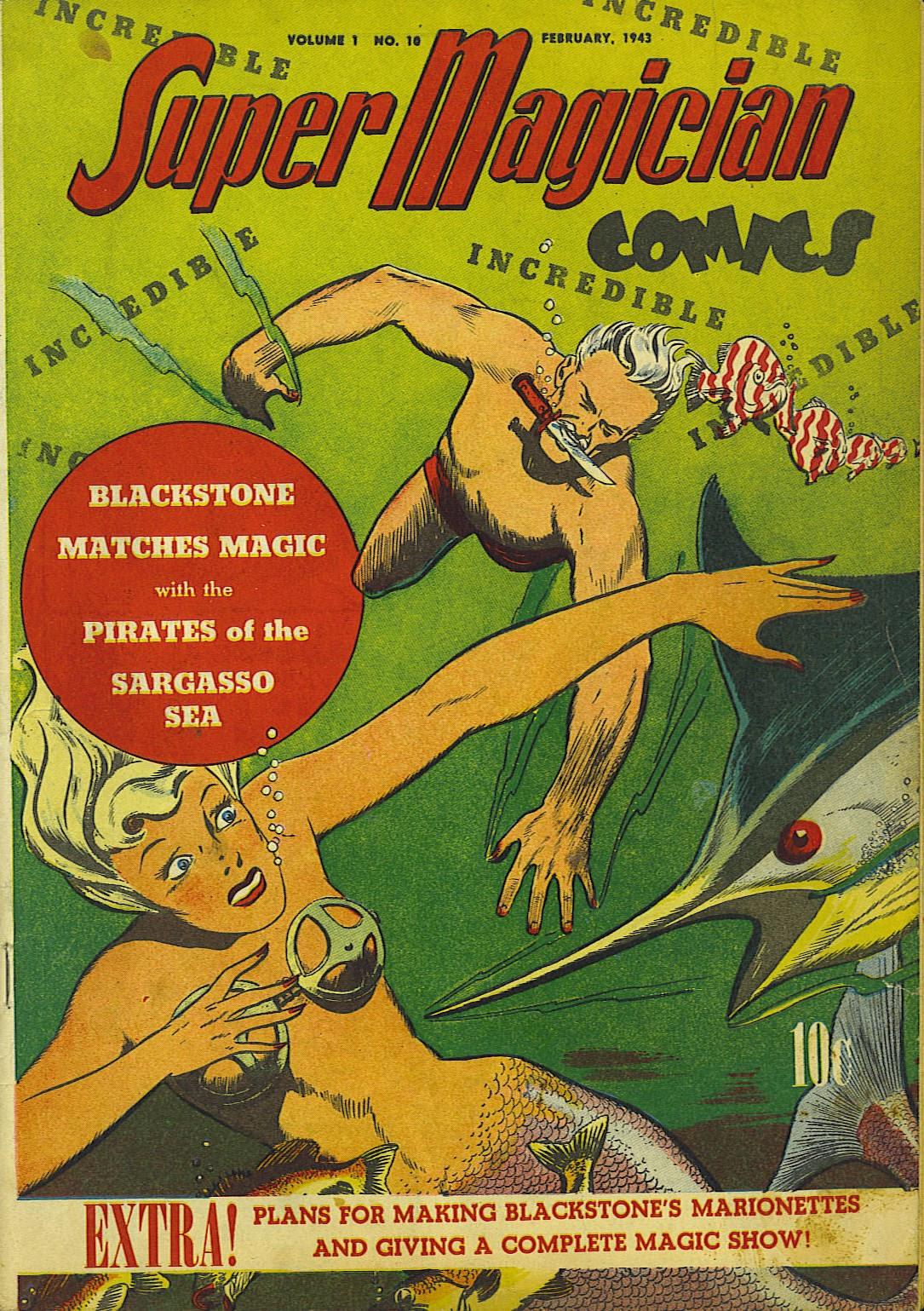 Read online Super-Magician Comics comic -  Issue #10 - 1