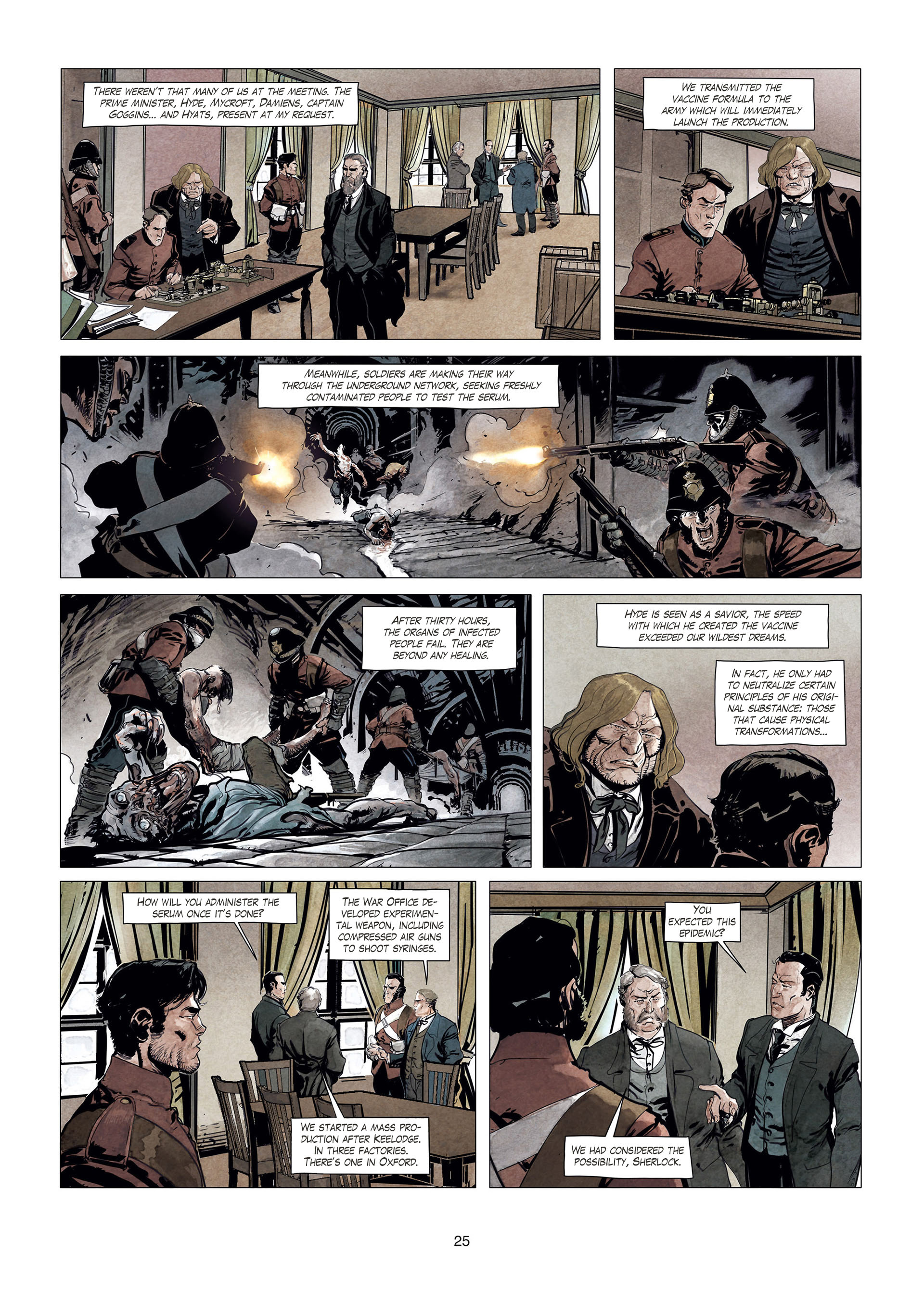 Read online Sherlock Holmes Society Tome 4 : Contamination comic -  Issue # Full - 25