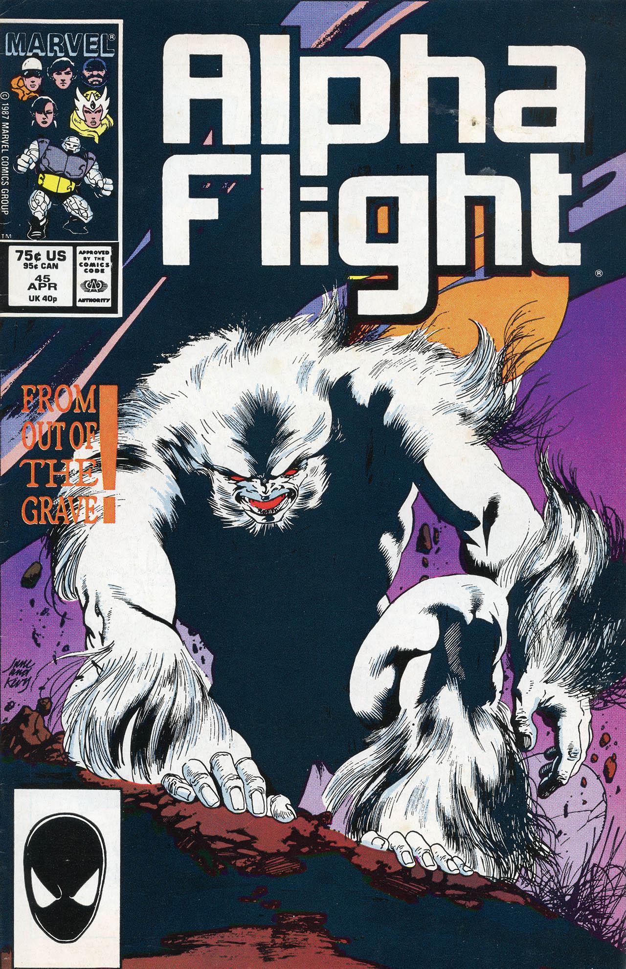 Read online Alpha Flight (1983) comic -  Issue #45 - 1