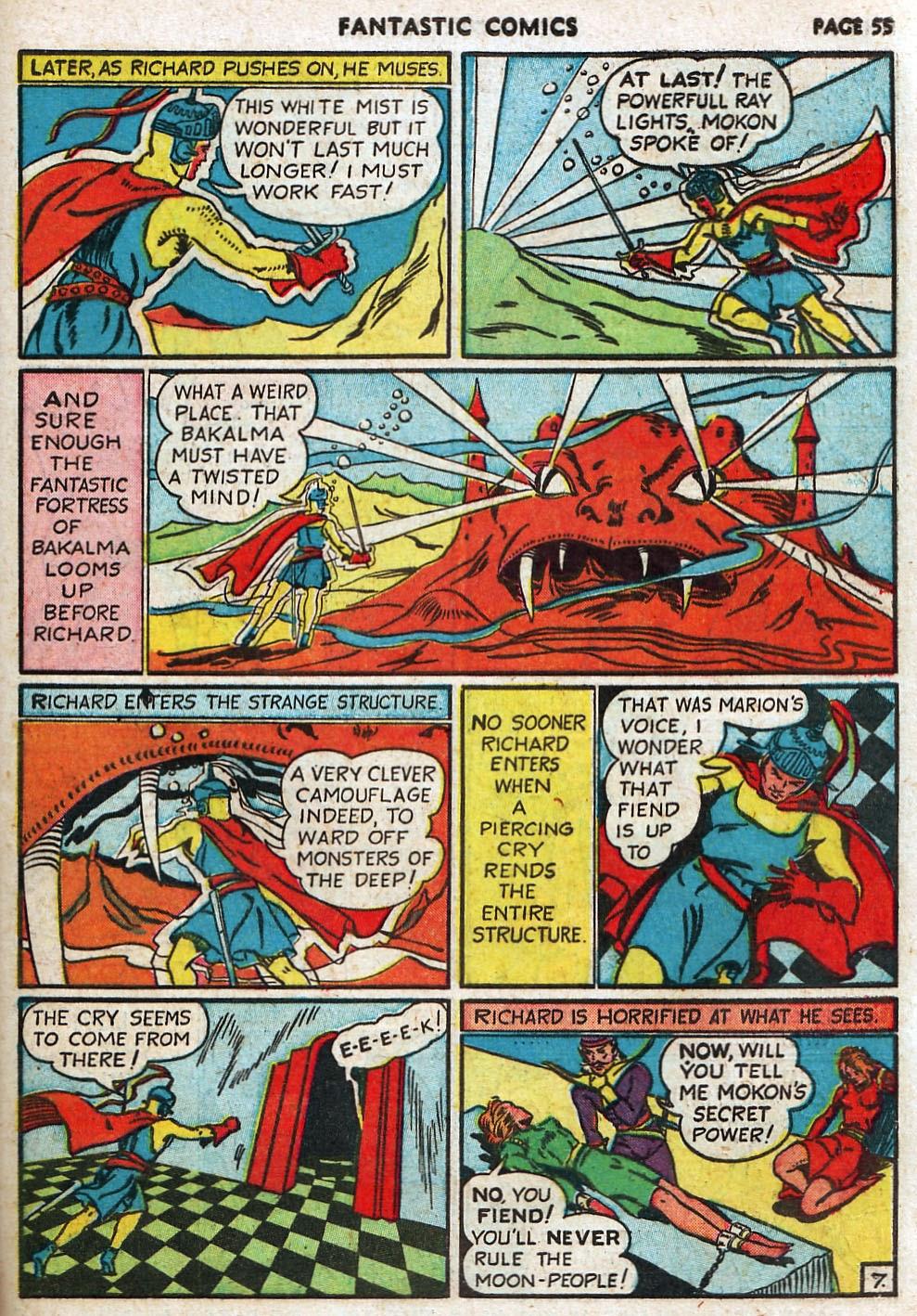 Read online Fantastic Comics comic -  Issue #17 - 56