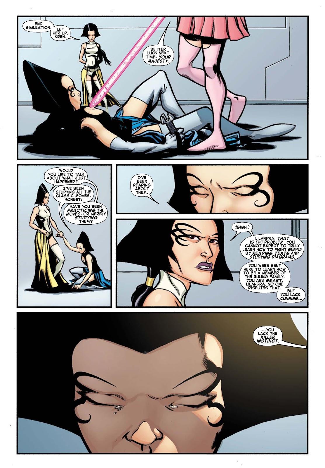 Read online War of Kings: Warriors - Lilandra comic -  Issue #1 - 7