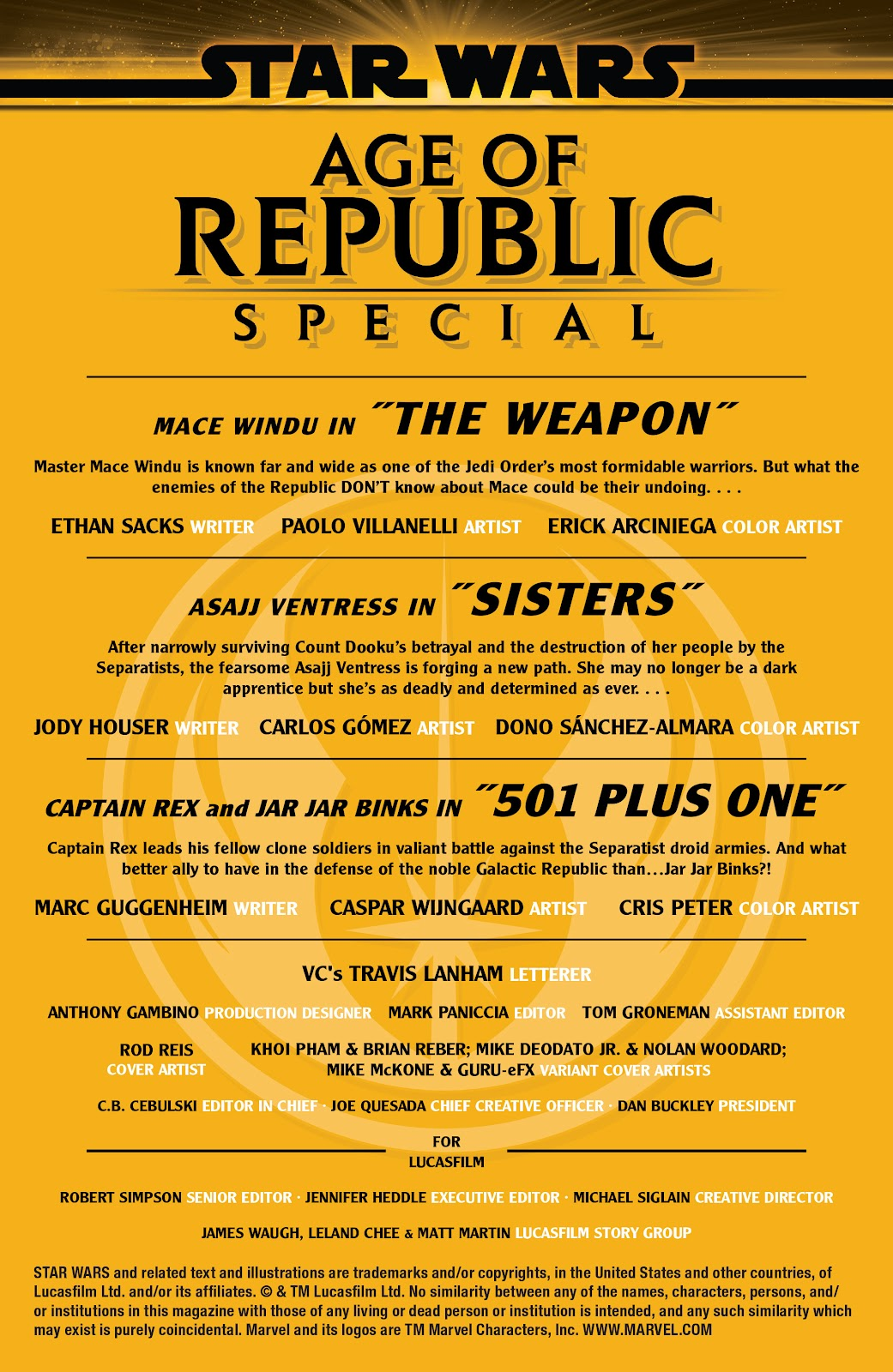 Read online Star Wars: Age of Republic Special comic -  Issue # Full - 2