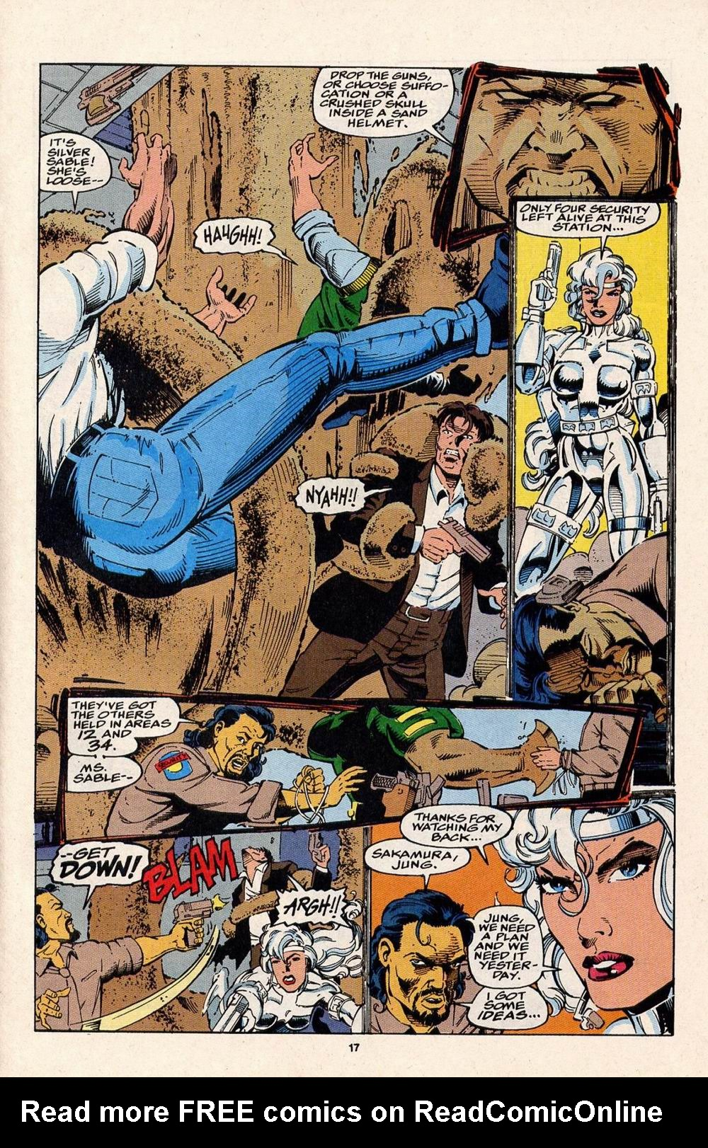 Read online Silver Sable and the Wild Pack comic -  Issue #32 - 13
