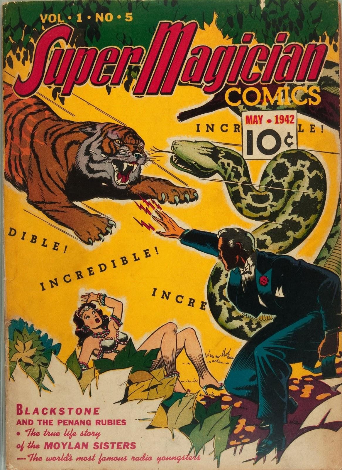Read online Super-Magician Comics comic -  Issue #5 - 1