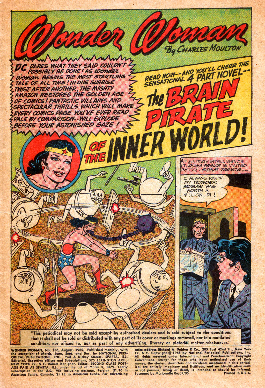Read online Wonder Woman (1942) comic -  Issue #156 - 3