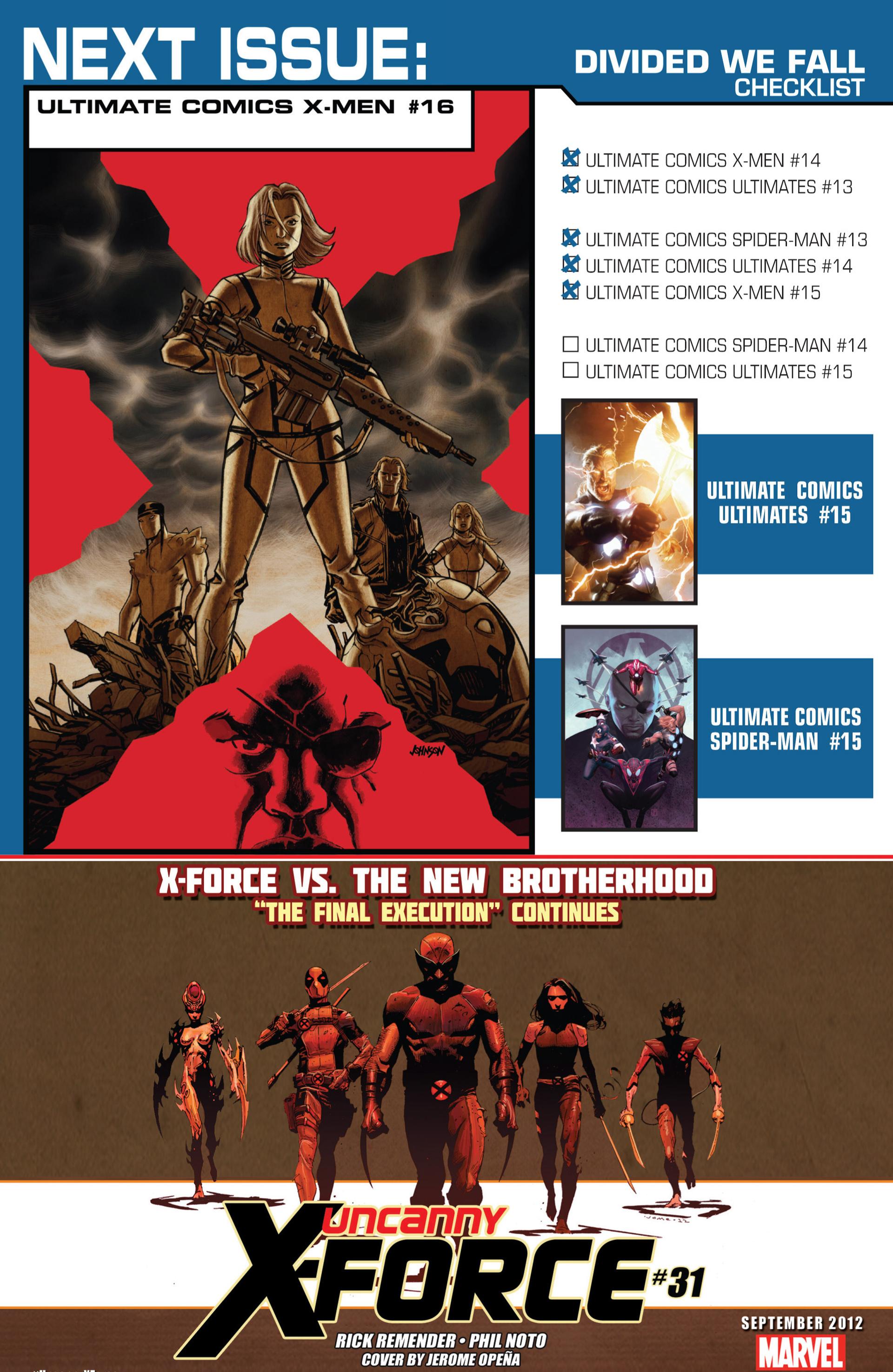 Read online Ultimate Comics X-Men comic -  Issue #15 - 24