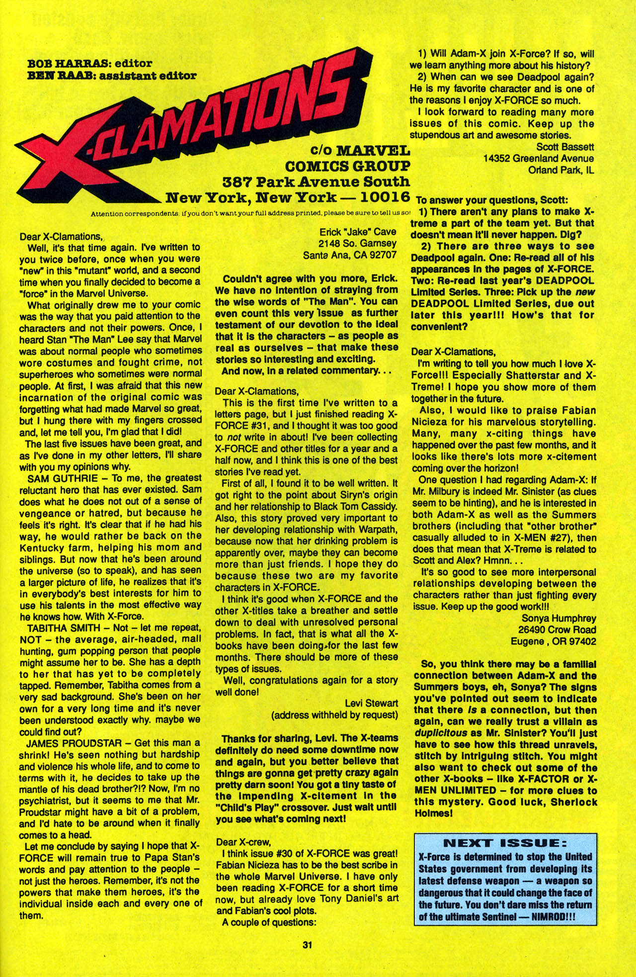 Read online X-Force (1991) comic -  Issue #34 - 31