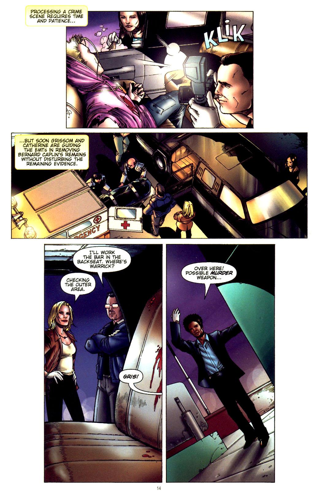 Read online CSI: Crime Scene Investigation: Bad Rap comic -  Issue #2 - 15