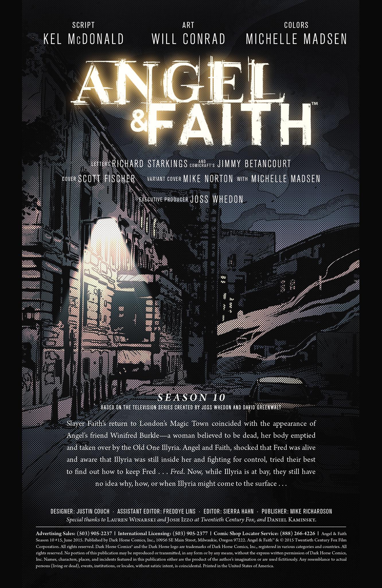 Read online Angel & Faith Season 10 comic -  Issue #15 - 2