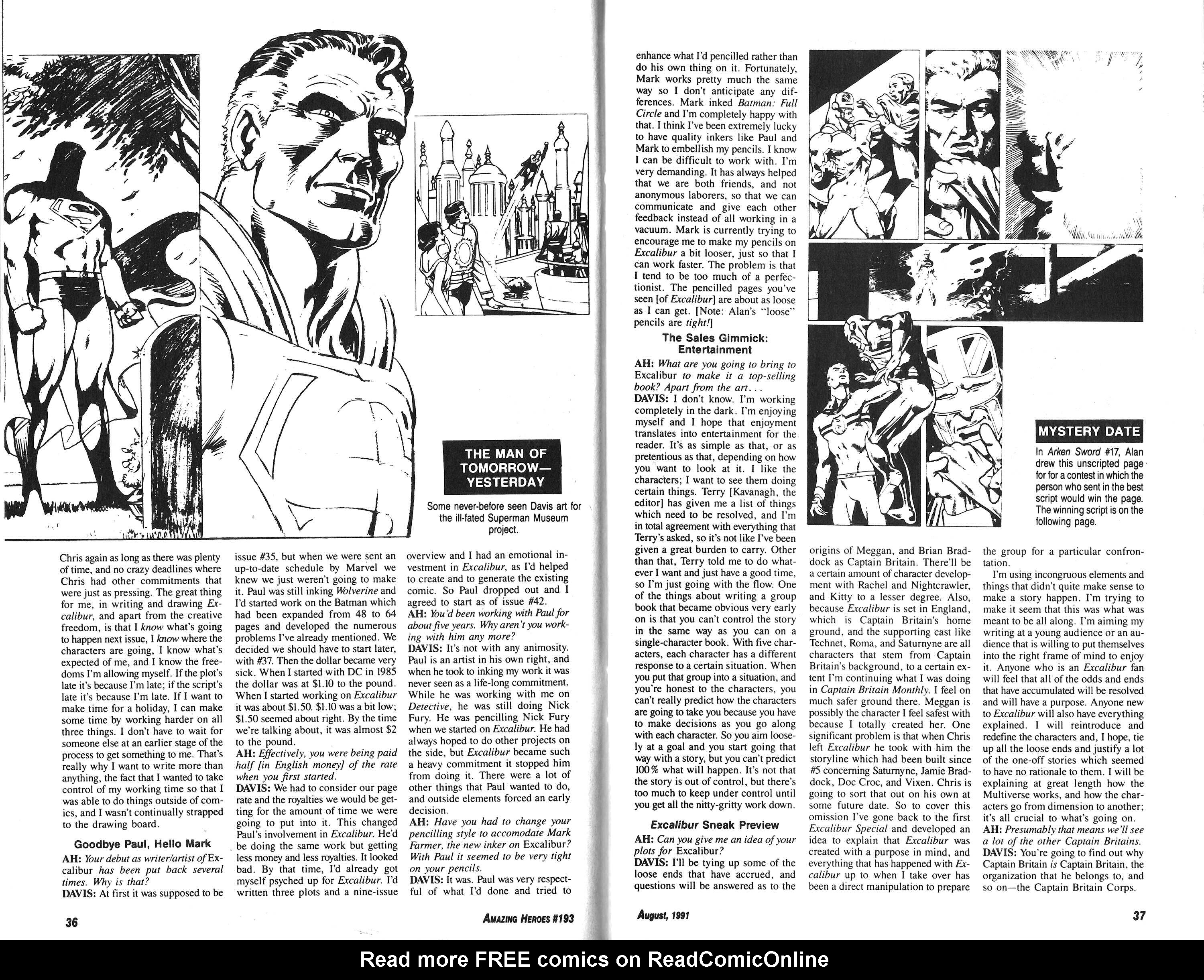 Read online Amazing Heroes comic -  Issue #193 - 19