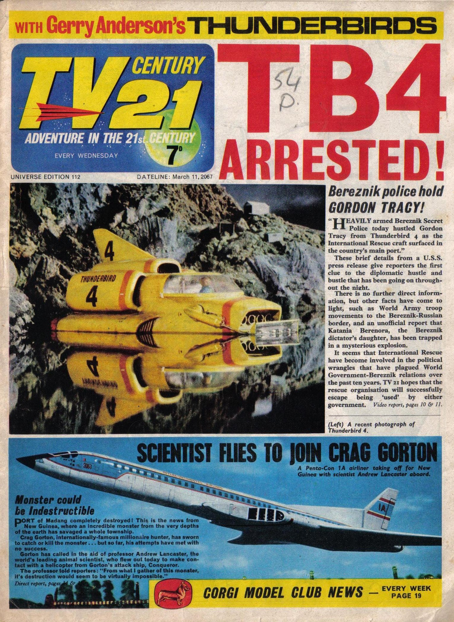 Read online TV Century 21 (TV 21) comic -  Issue #112 - 1