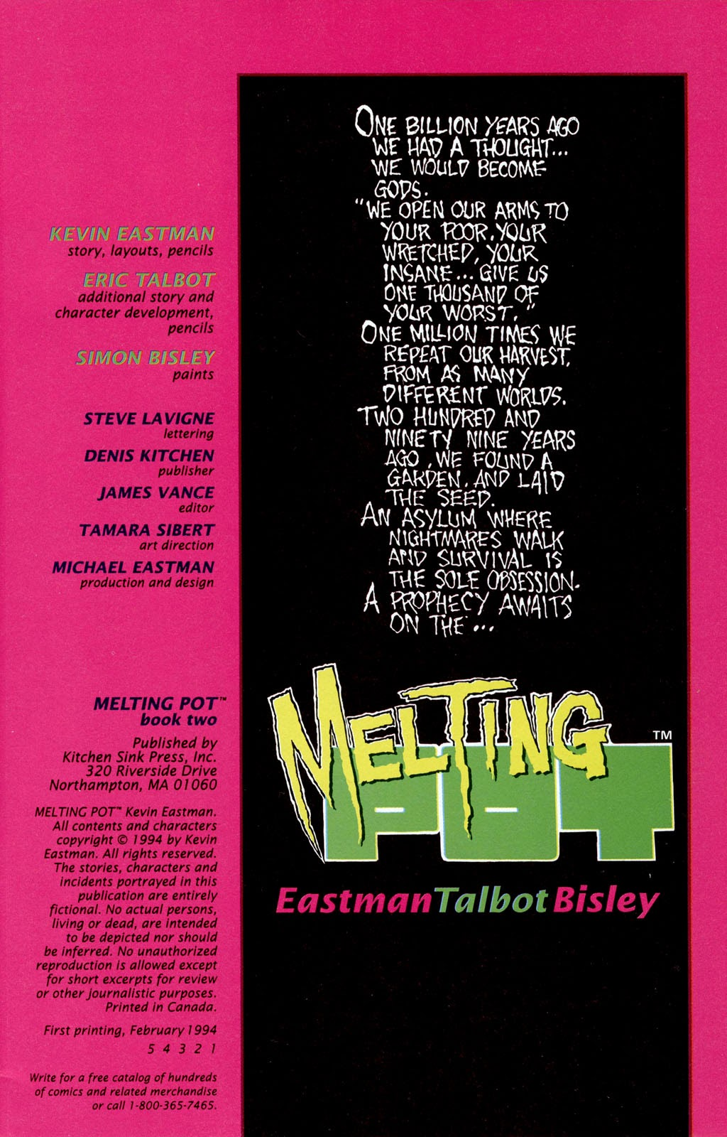 Read online Melting Pot comic -  Issue #2 - 4