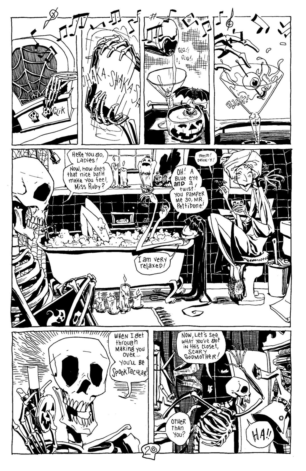 Read online Scary Godmother Comic Book Stories comic -  Issue # TPB - 21