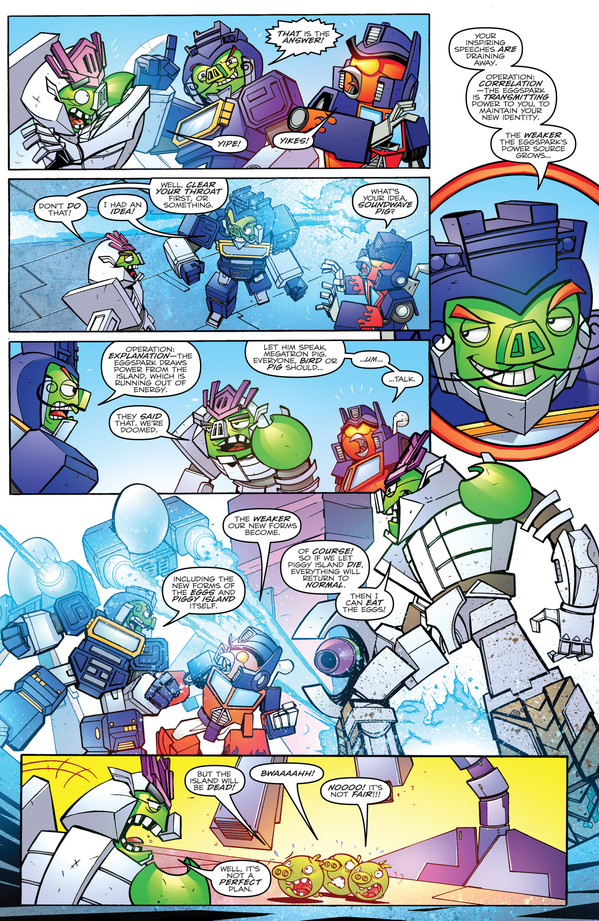 Read online Angry Birds Transformers comic -  Issue #4 - 4