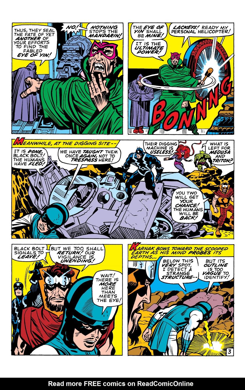 Read online Marvel Masterworks: The Inhumans comic -  Issue # TPB 1 (Part 1) - 94