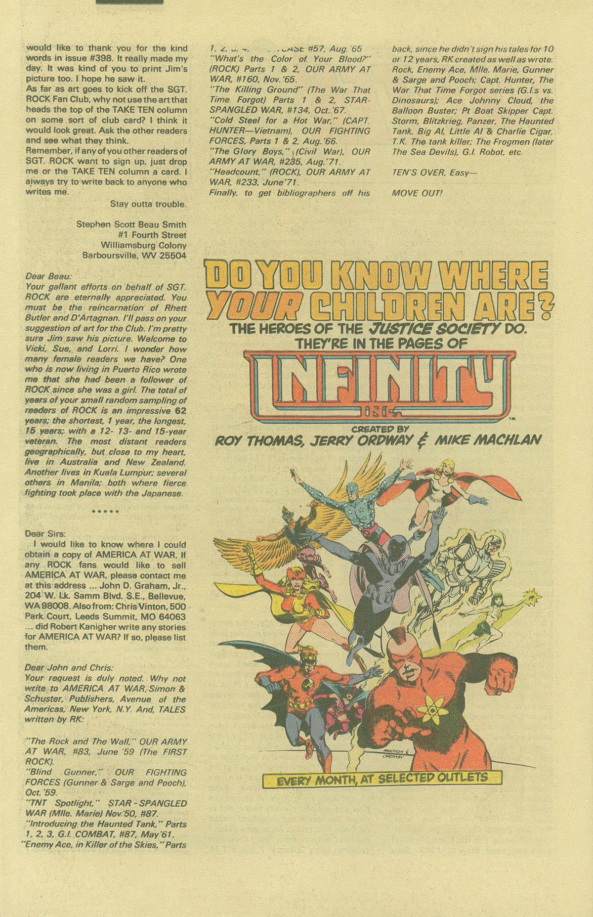 Read online Sgt. Rock comic -  Issue #402 - 21