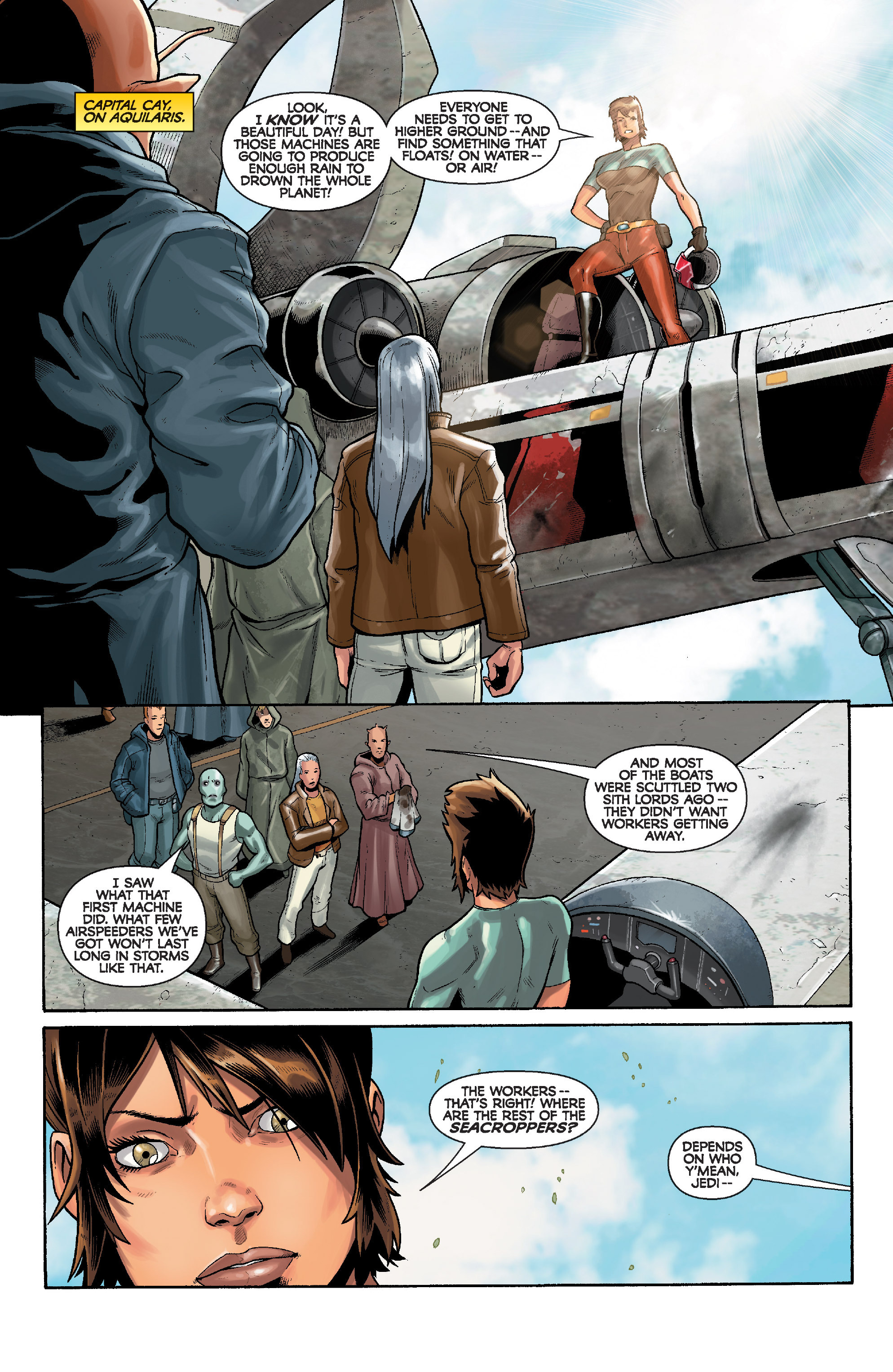 Read online Star Wars: Knight Errant - Deluge comic -  Issue #3 - 9