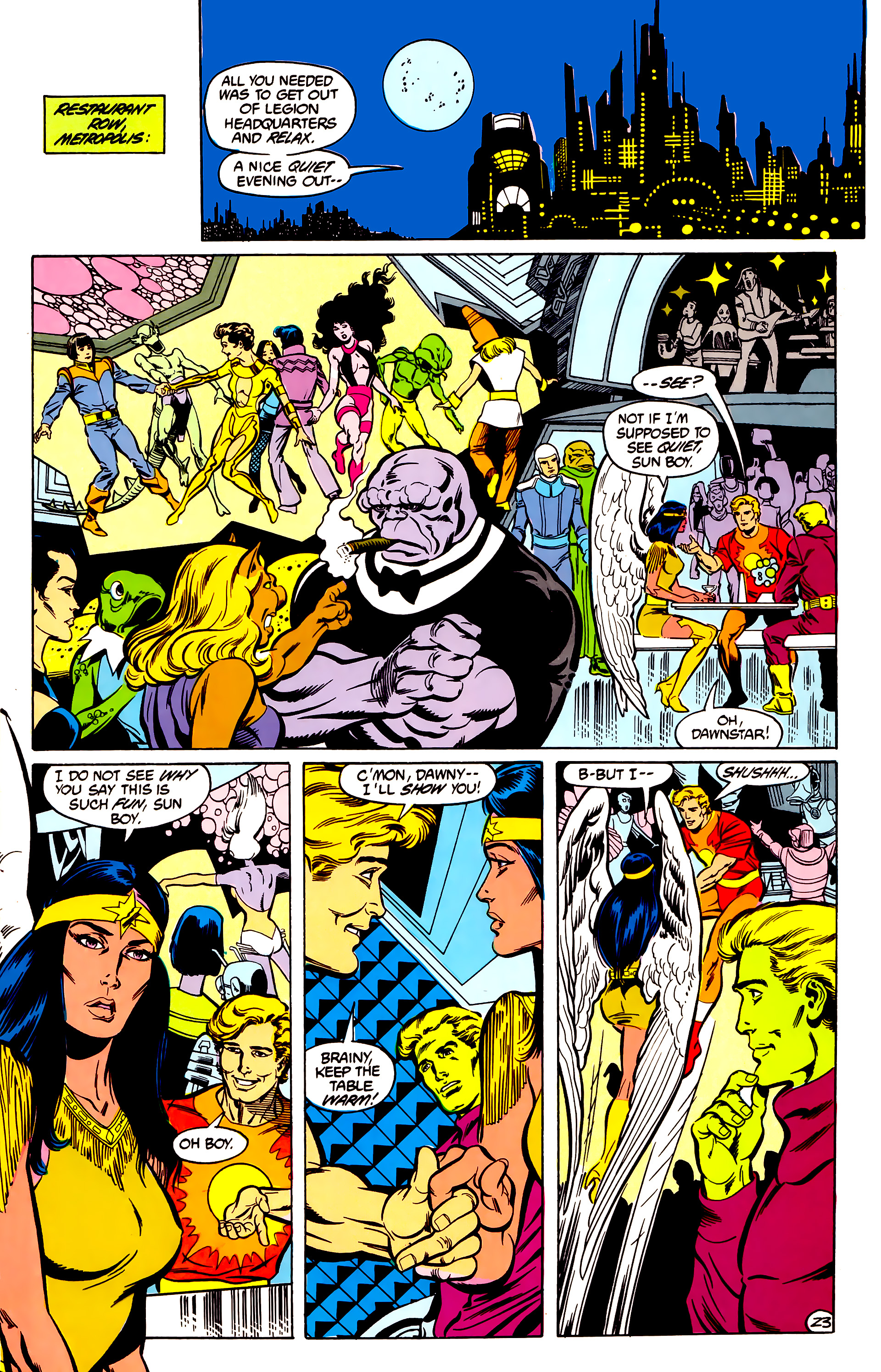 Legion of Super-Heroes (1984) 30 Page 23