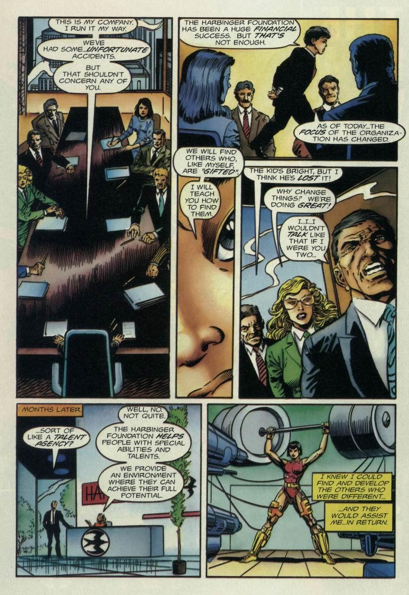 Read online Harbinger Files comic -  Issue #1 - 16