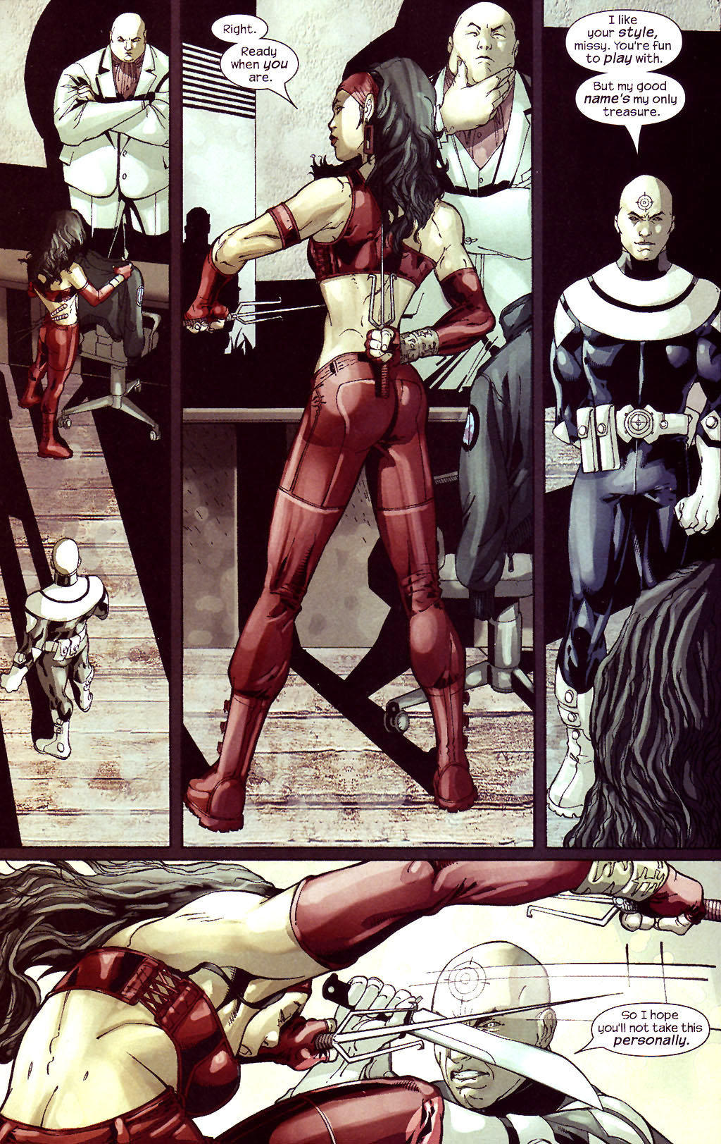 Read online Ultimate Elektra comic -  Issue #5 - 19