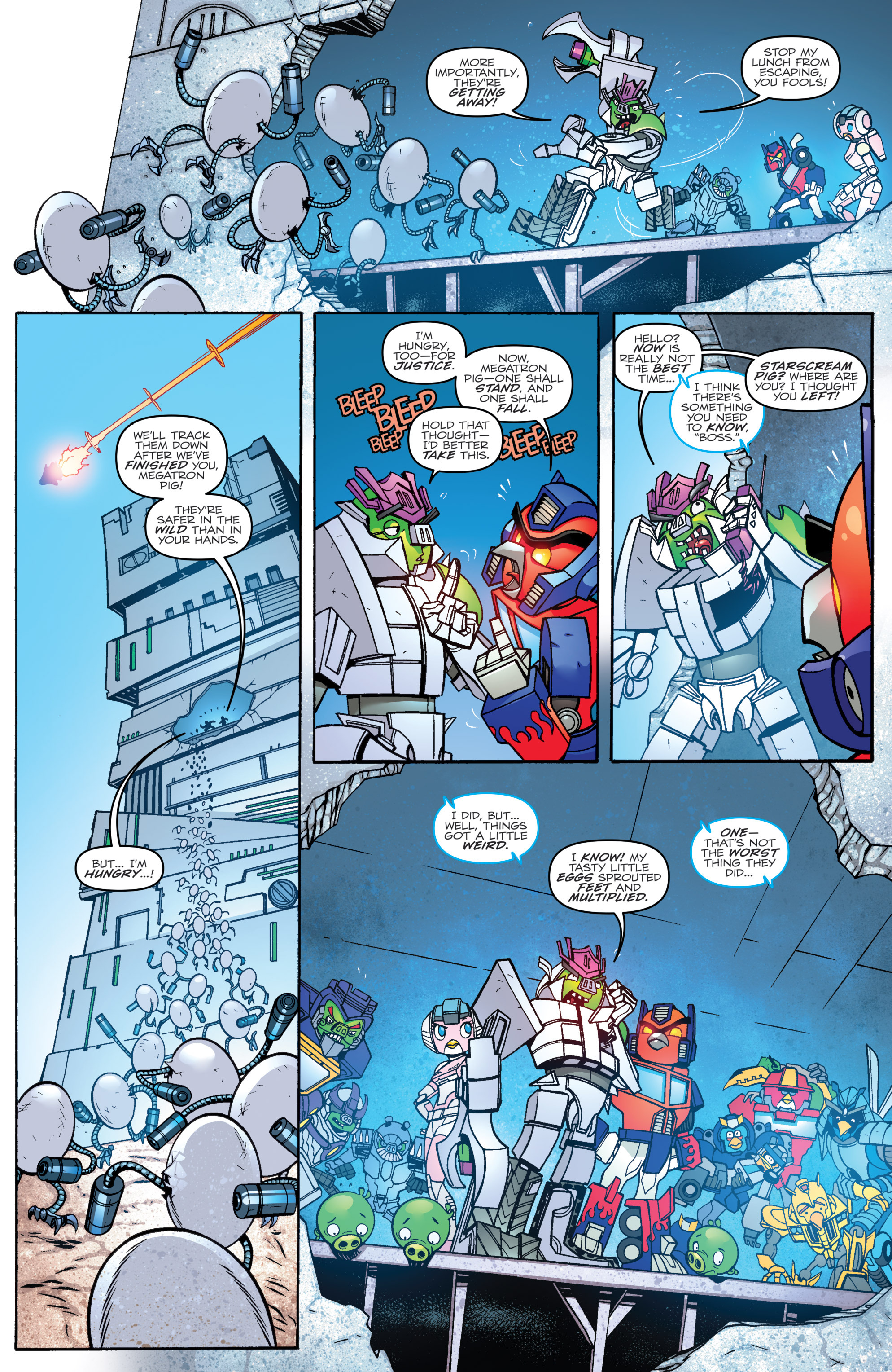 Read online Angry Birds Transformers comic -  Issue #2 - 21