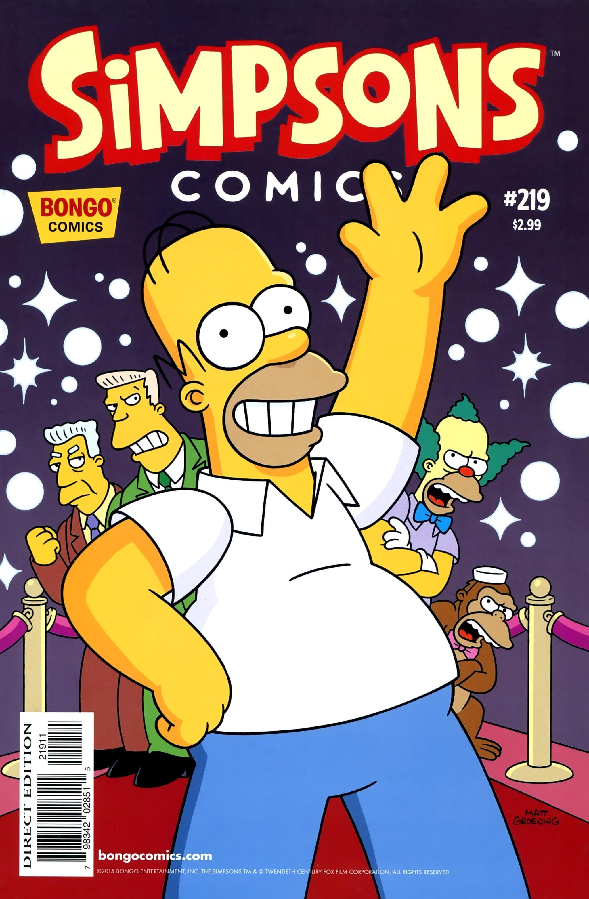 Simpsons Comics 219 Page 1