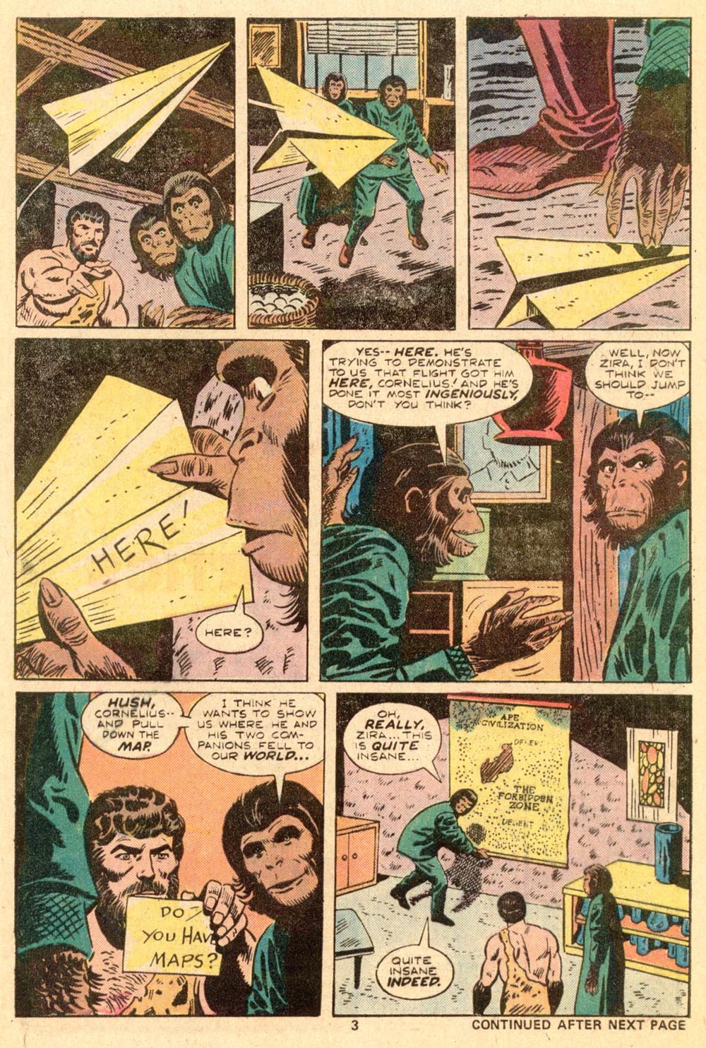 Read online Adventures on the Planet of the Apes comic -  Issue #3 - 4