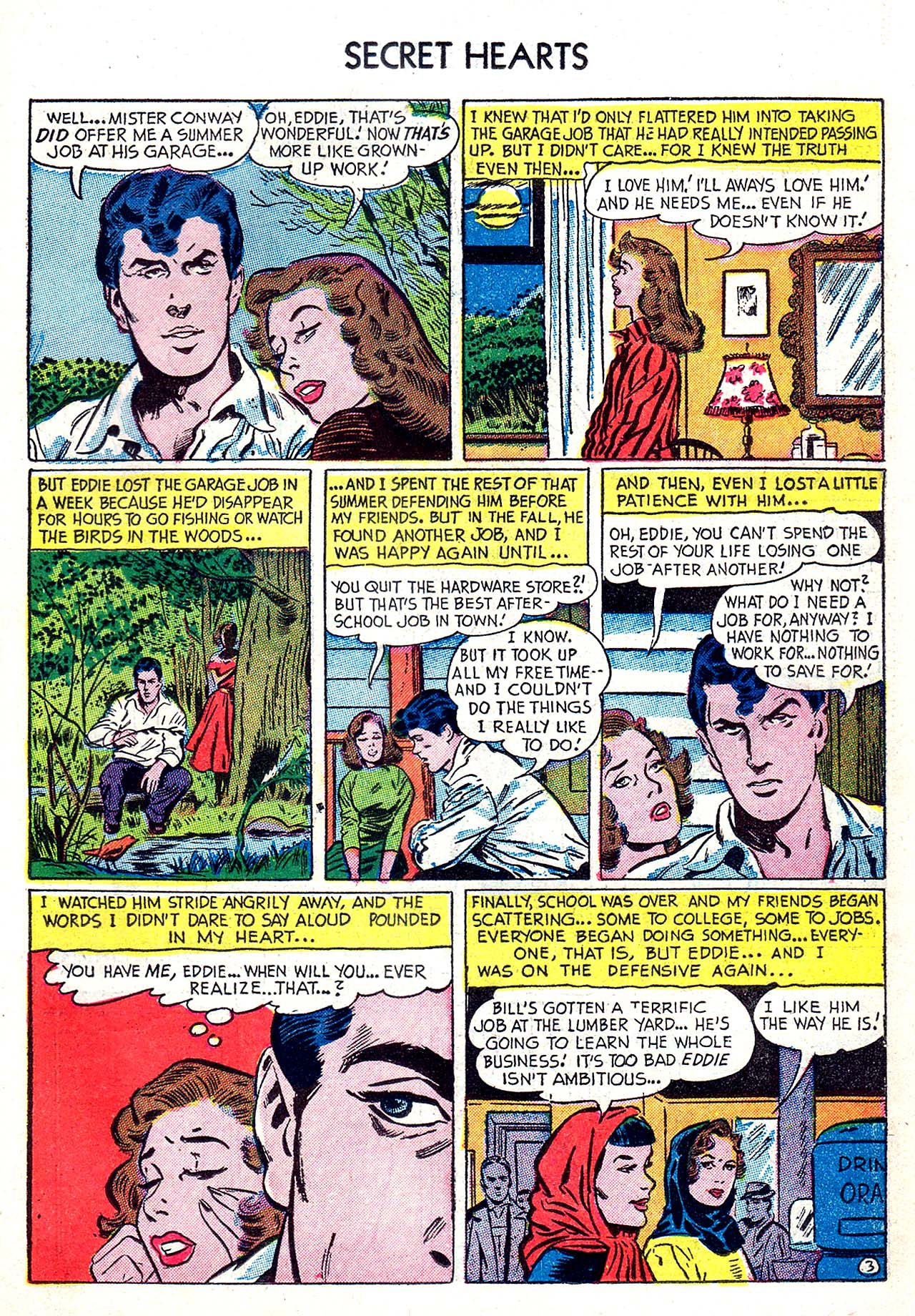 Read online Secret Hearts comic -  Issue #20 - 19