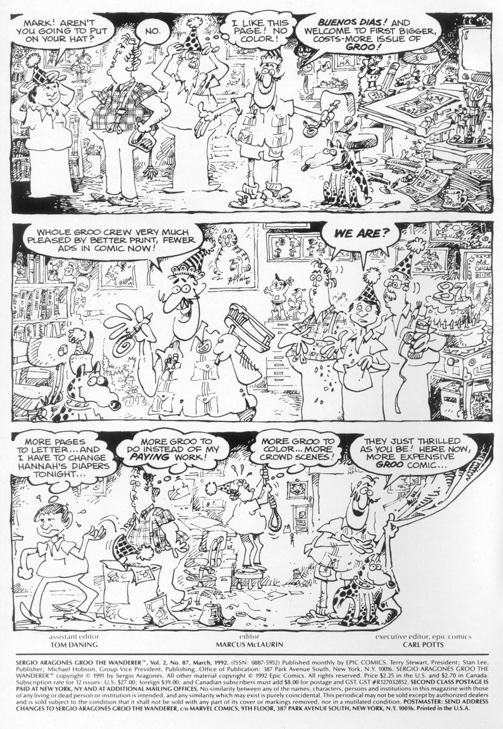 Read online Sergio Aragonés Groo the Wanderer comic -  Issue #87 - 2