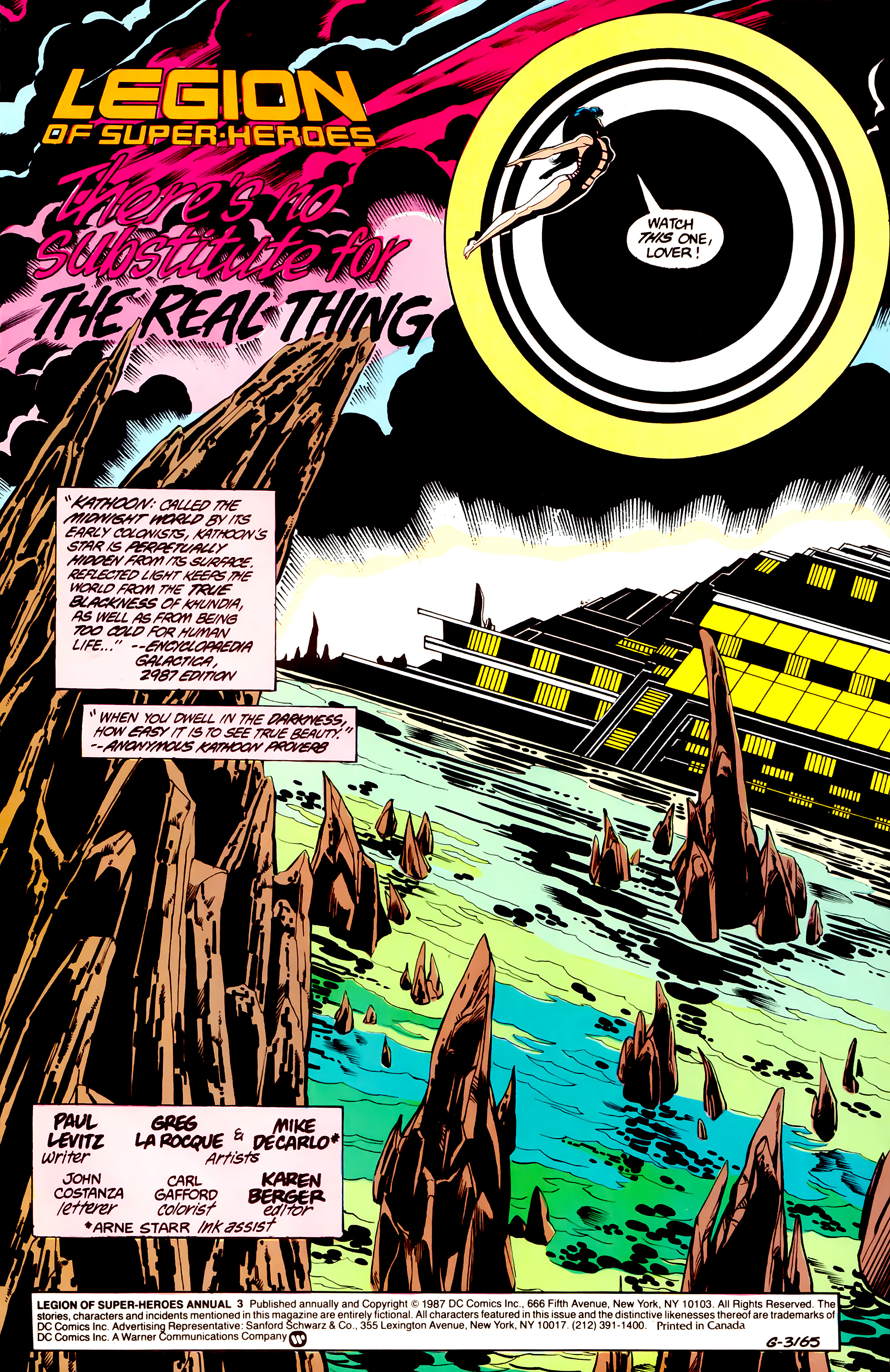 Legion of Super-Heroes (1984) _Annual_3 Page 1