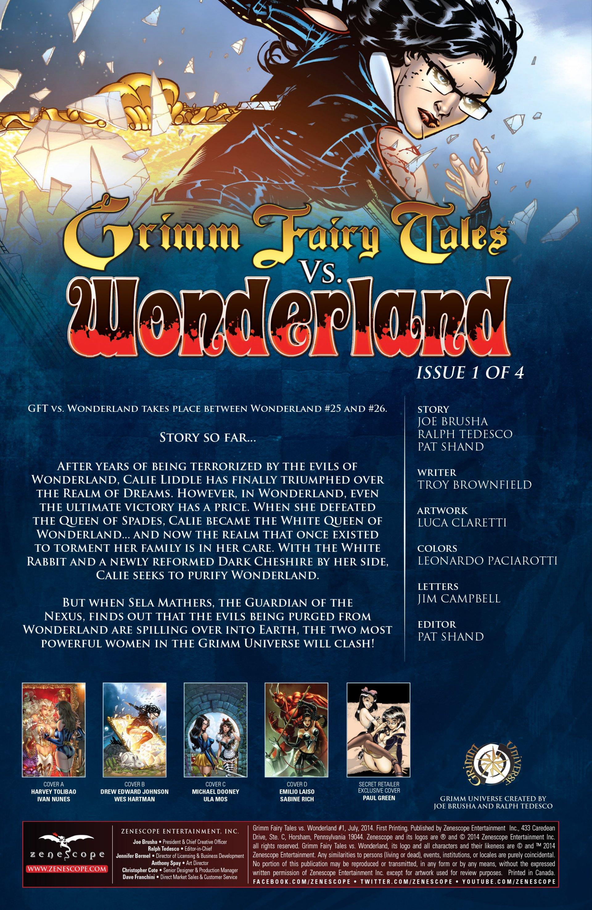 Read online Grimm Fairy Tales vs. Wonderland comic -  Issue #1 - 3